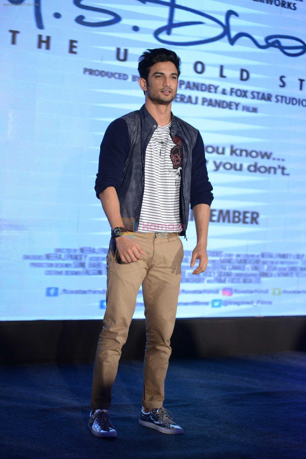 Sushant Singh Rajput at MS Dhoni press meet in Delhi on 27th Sept 2016