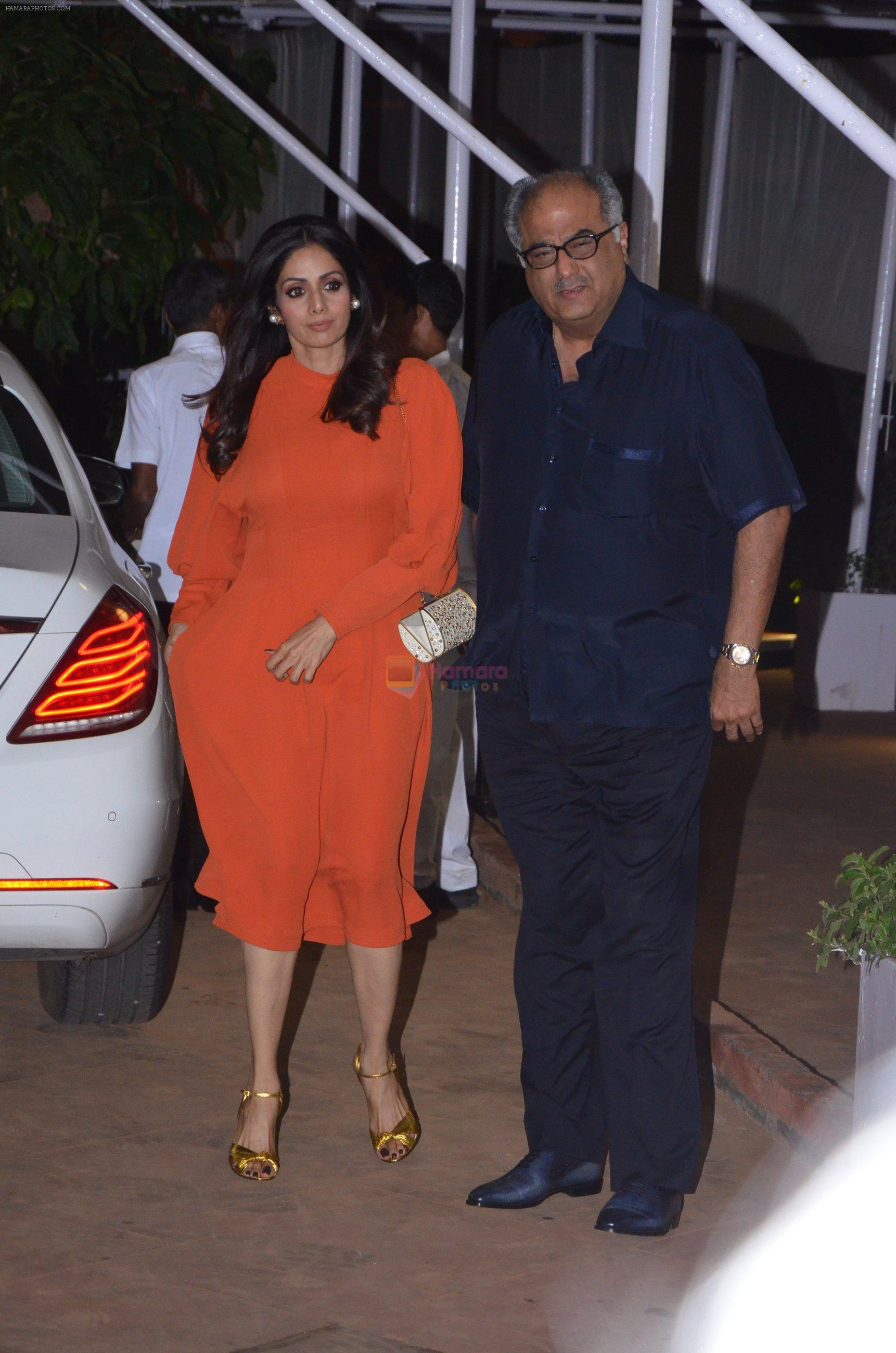 Boney Kapoor, Sridevi at Reema jain bday party in Amadeus NCPA on 28th Sept 2016