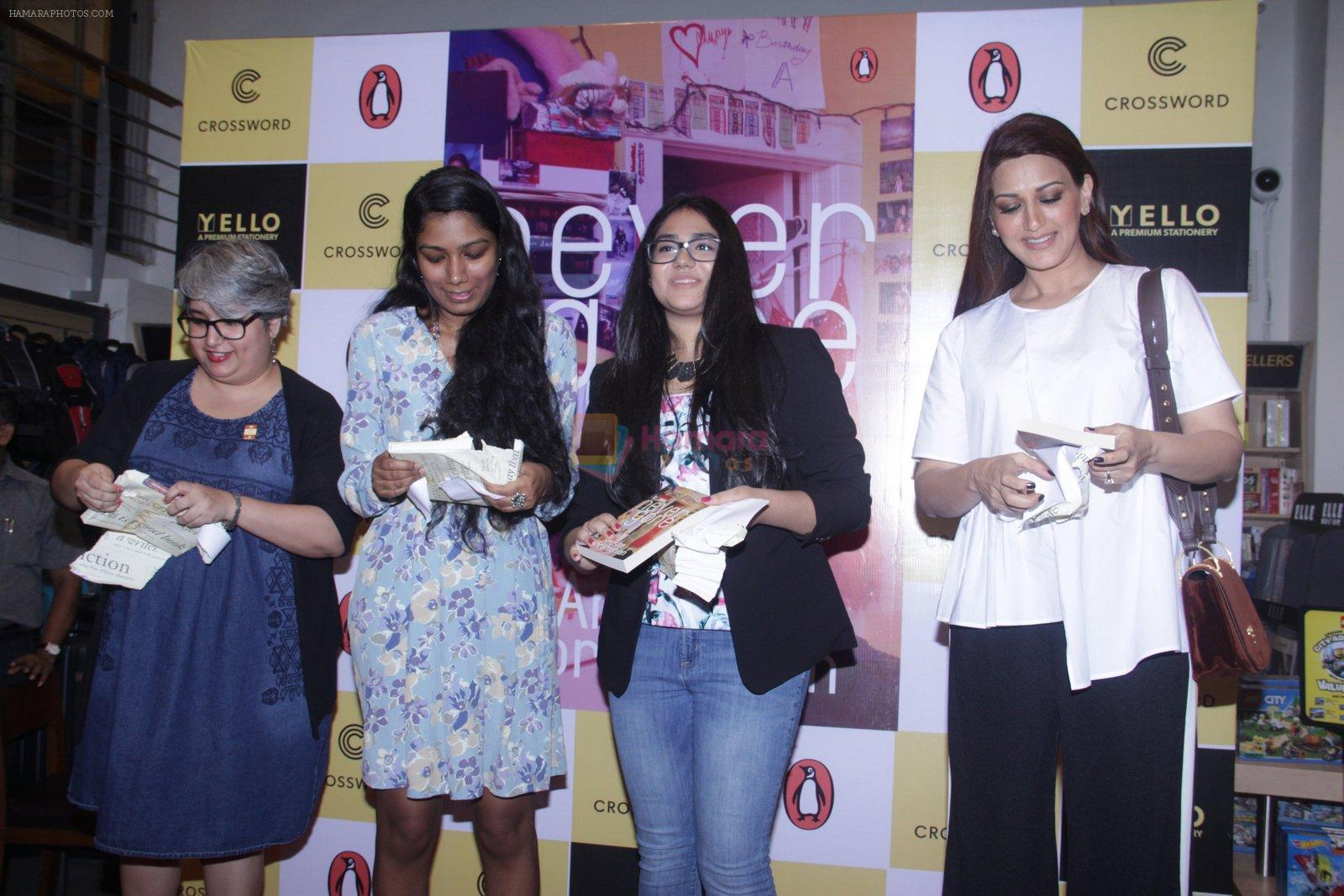 Sonali Bendre unveils Anusha Subramaniam�s book Never Gone on 28th Sept 2016
