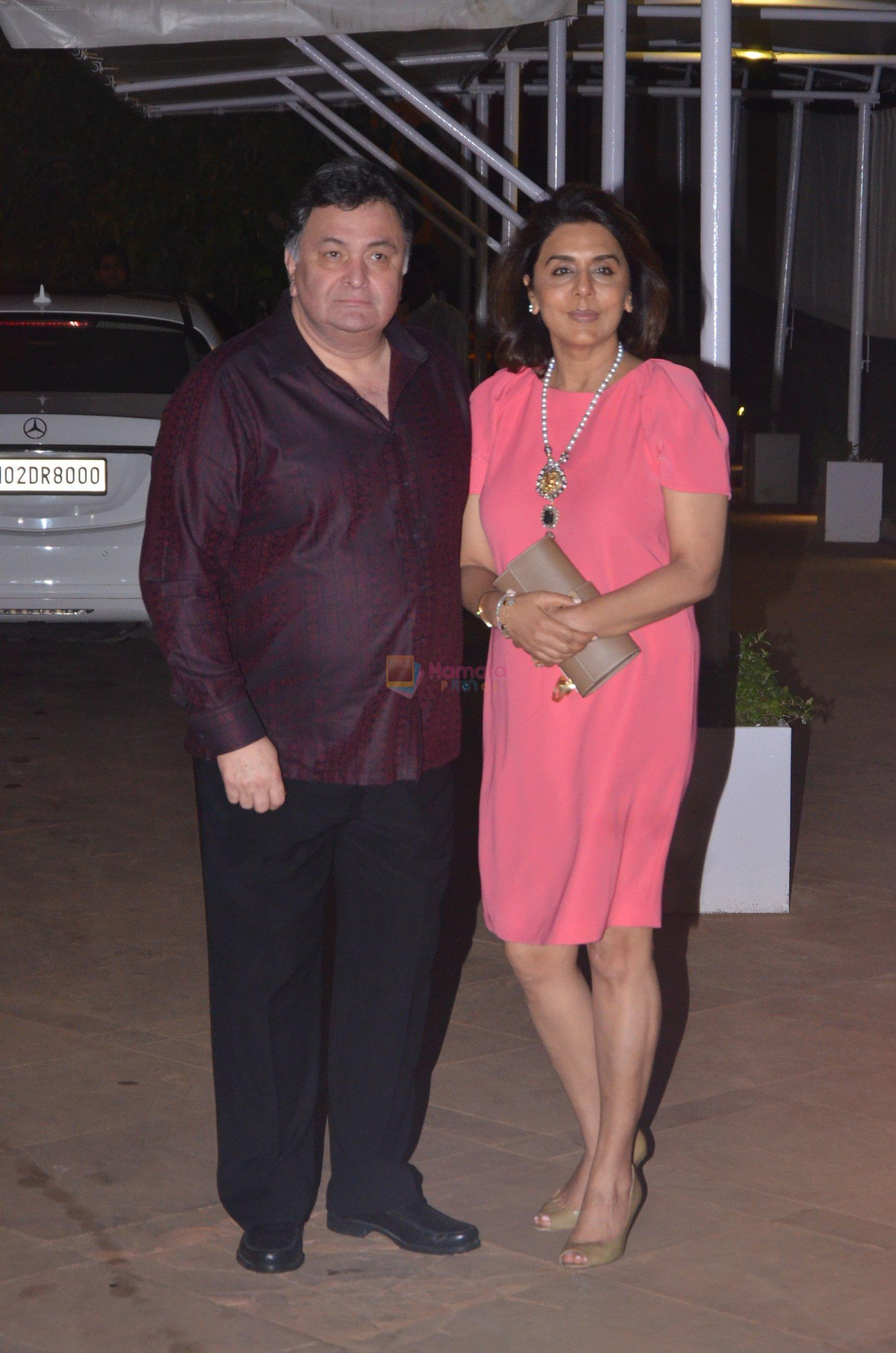 Rishi Kapoor, Neetu Singh at Reema jain bday party in Amadeus NCPA on 28th Sept 2016