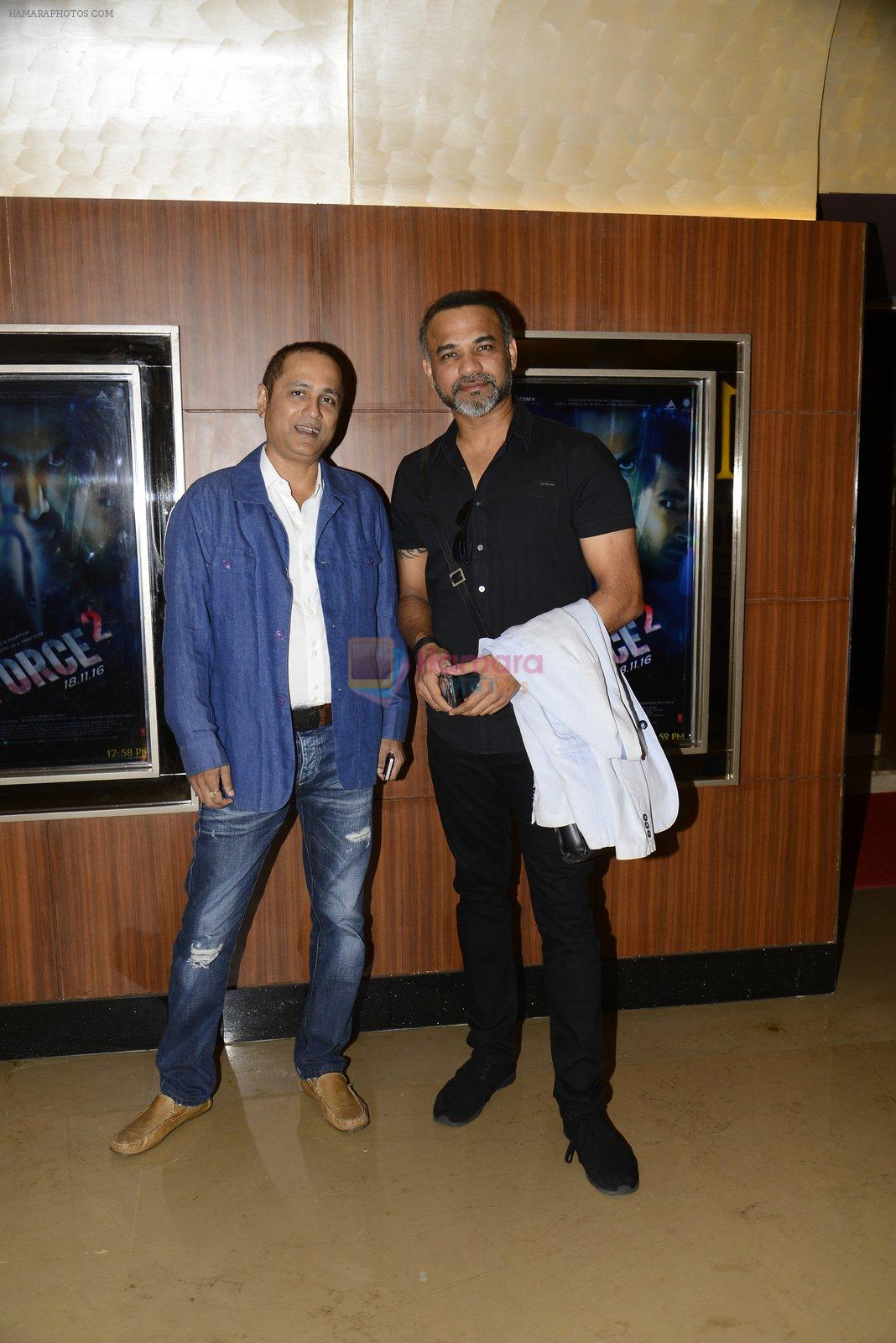 Vipul Shah, Abhinay Deo at Force 2 trailer launch in Mumbai on 29th Sept 2016