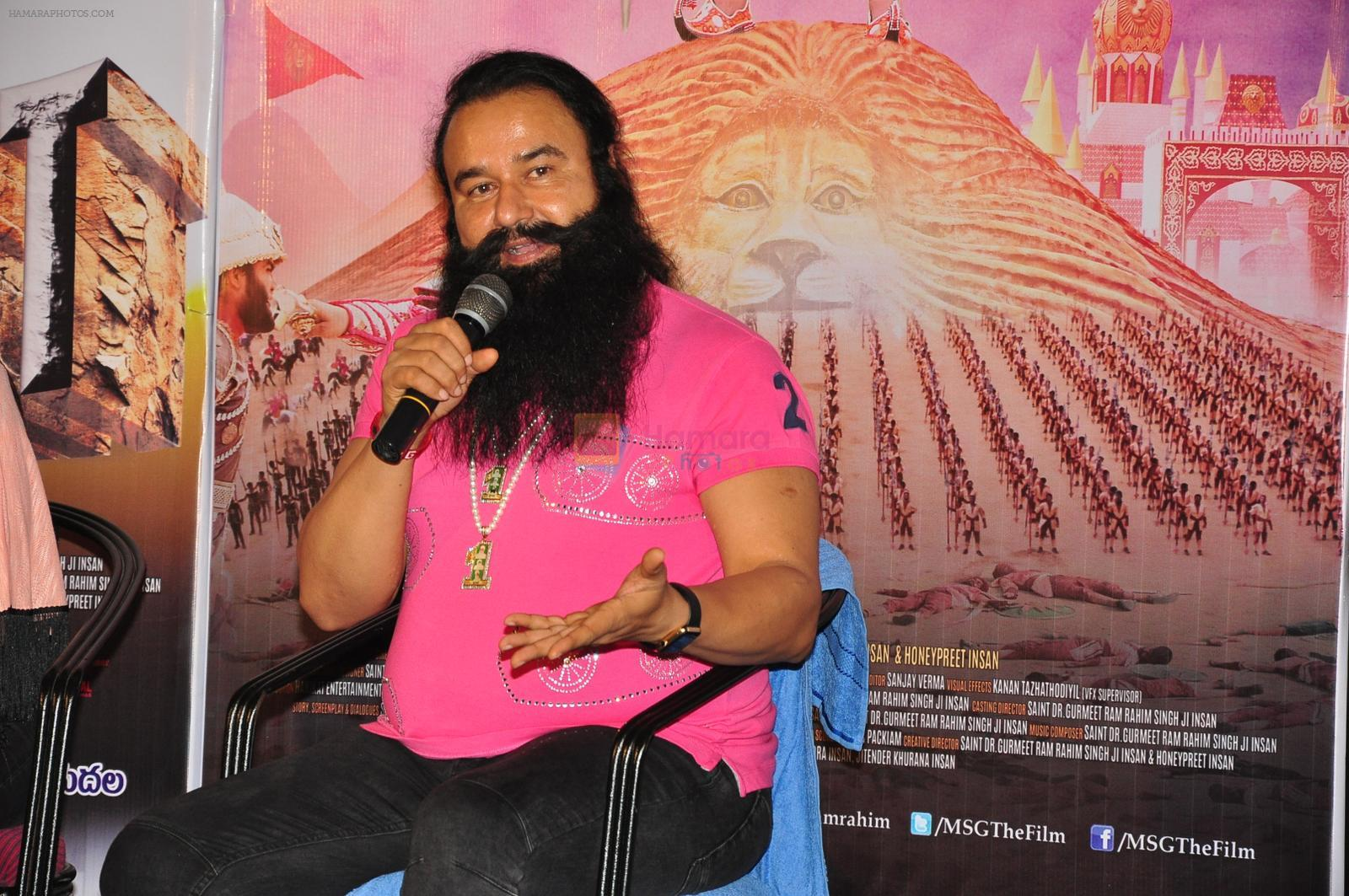 Saint Gurmeet Ram Rahim Singh Ji Insan at Messenger Of GOD Press Meet on 28th Sept 2016
