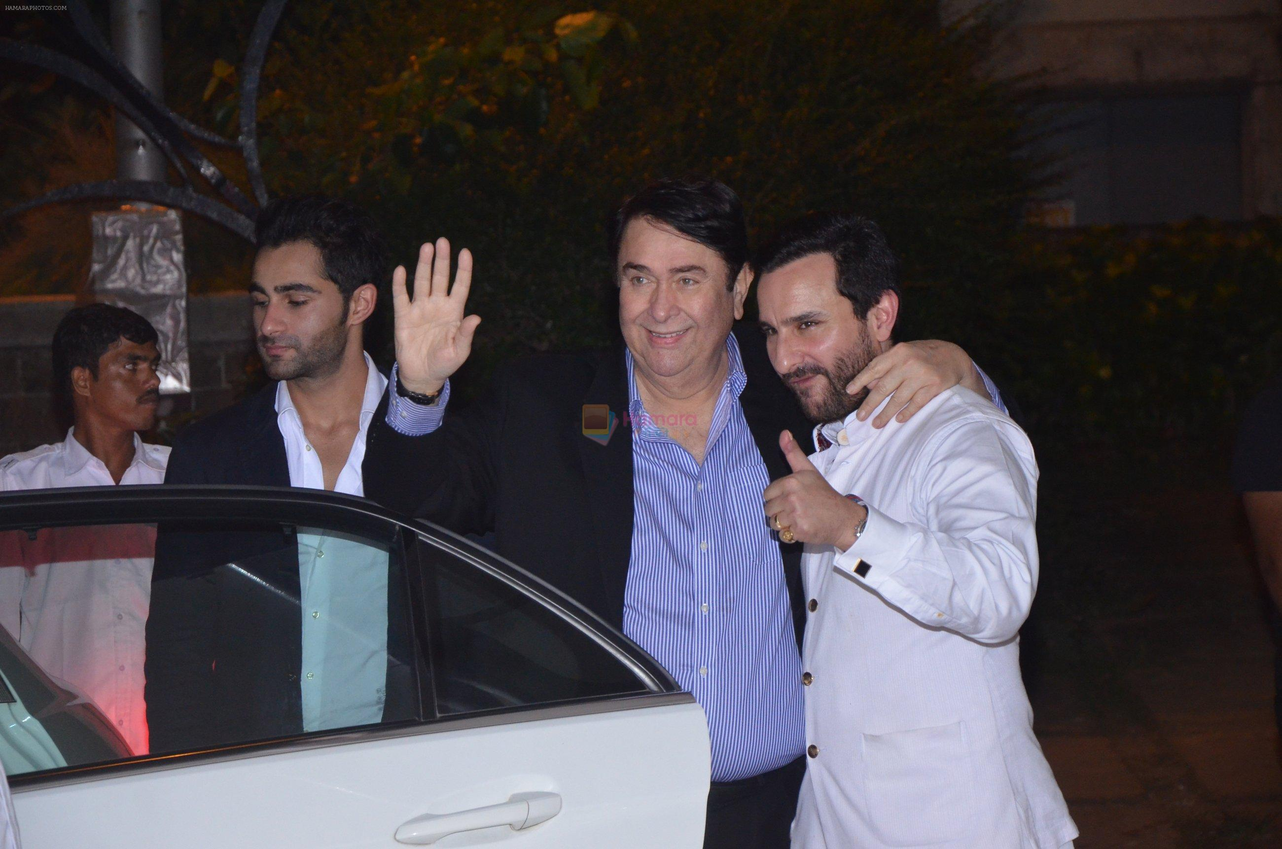 Saif Ali Khan, Randhir Kapoor at Reema jain bday party in Amadeus NCPA on 28th Sept 2016