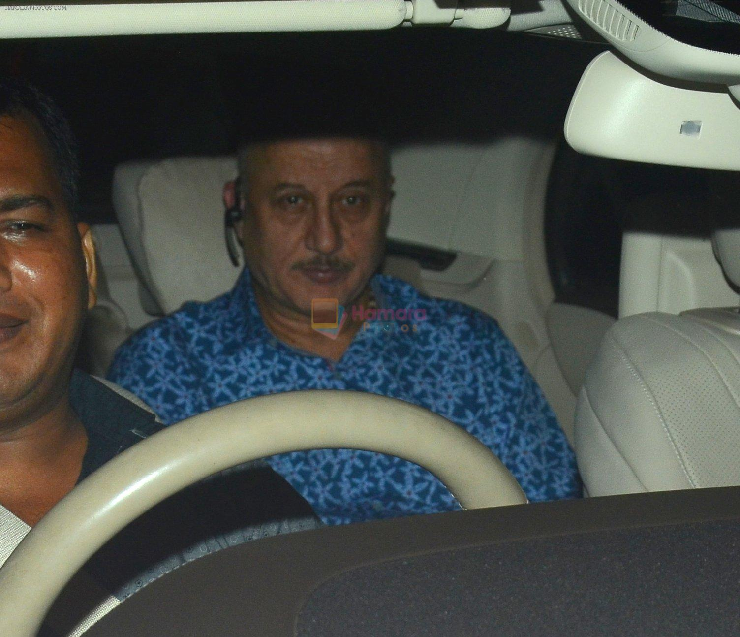 Anupam Kher snapped at a screening on 28th Sept 2016