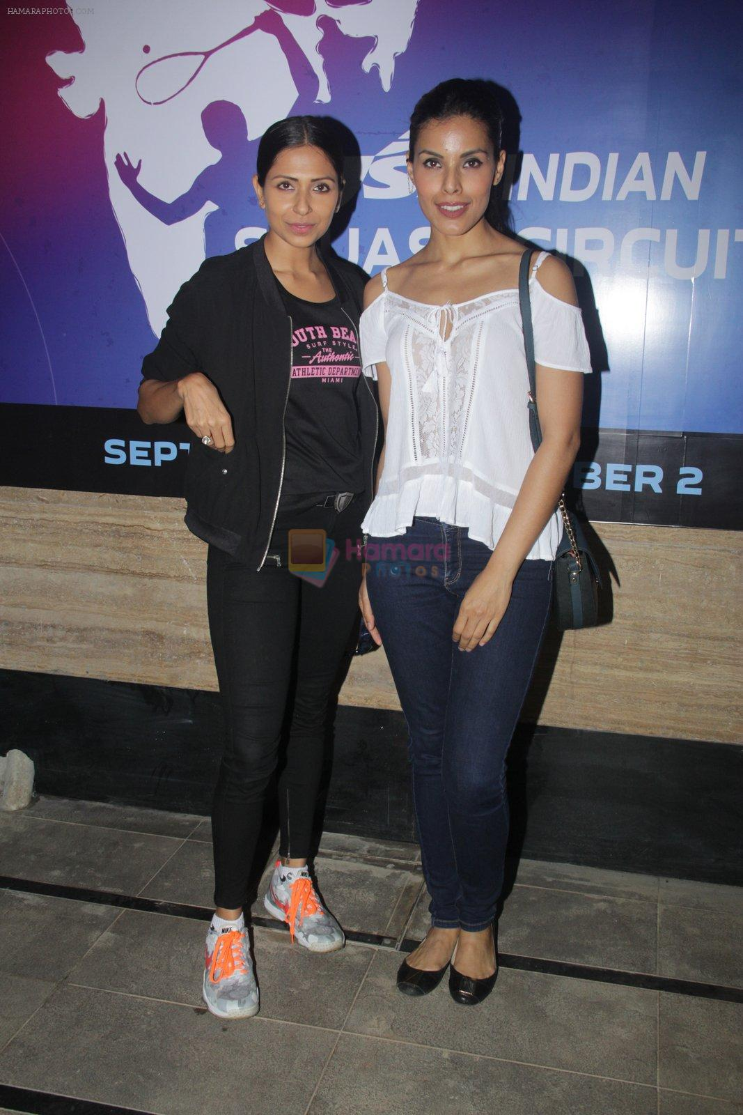 Candice Pinto, Deepti Gujral at JSW Badminton meet on 29th Sept 2016