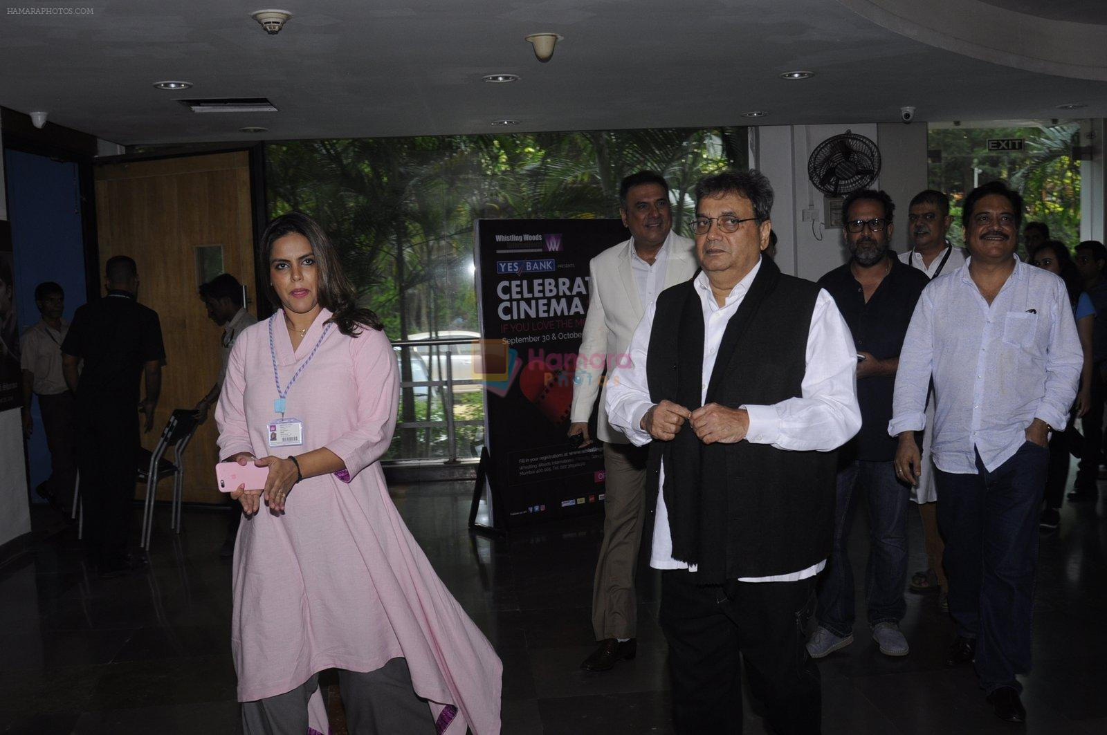 Subhash GHai at whistling woods on 29th Sept 2016