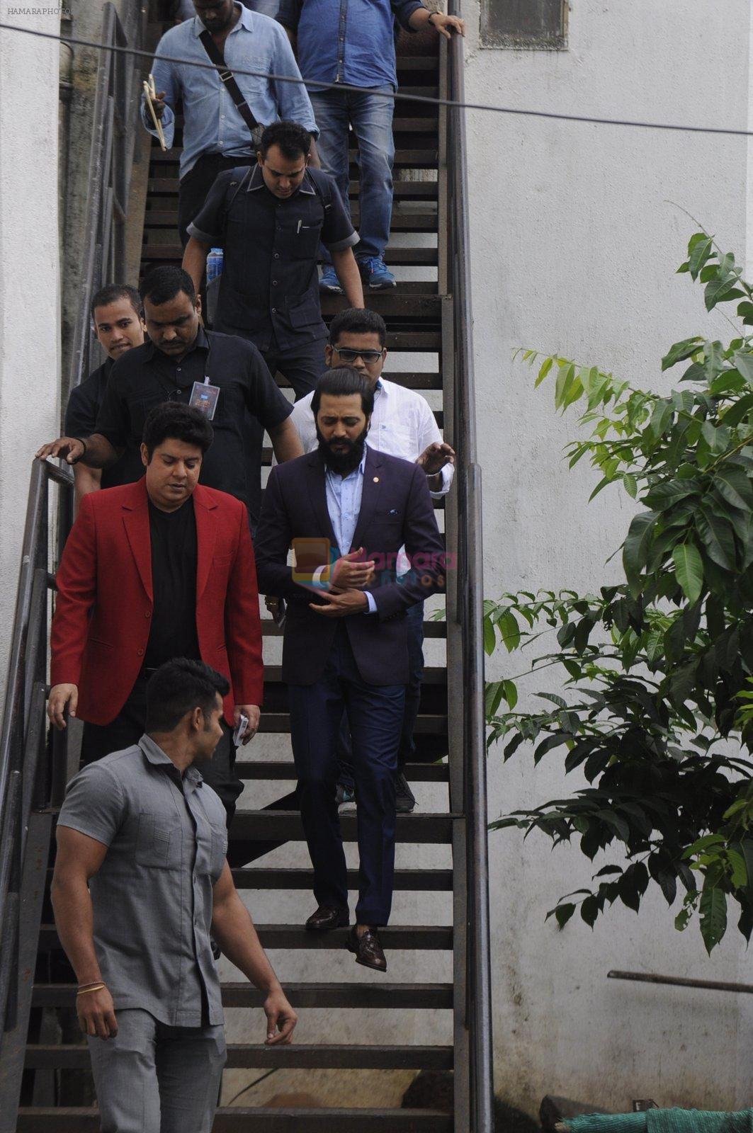 Riteish Deshmukh snapped at Filmcity on the sets of his new chat show on 29th Sept 2016