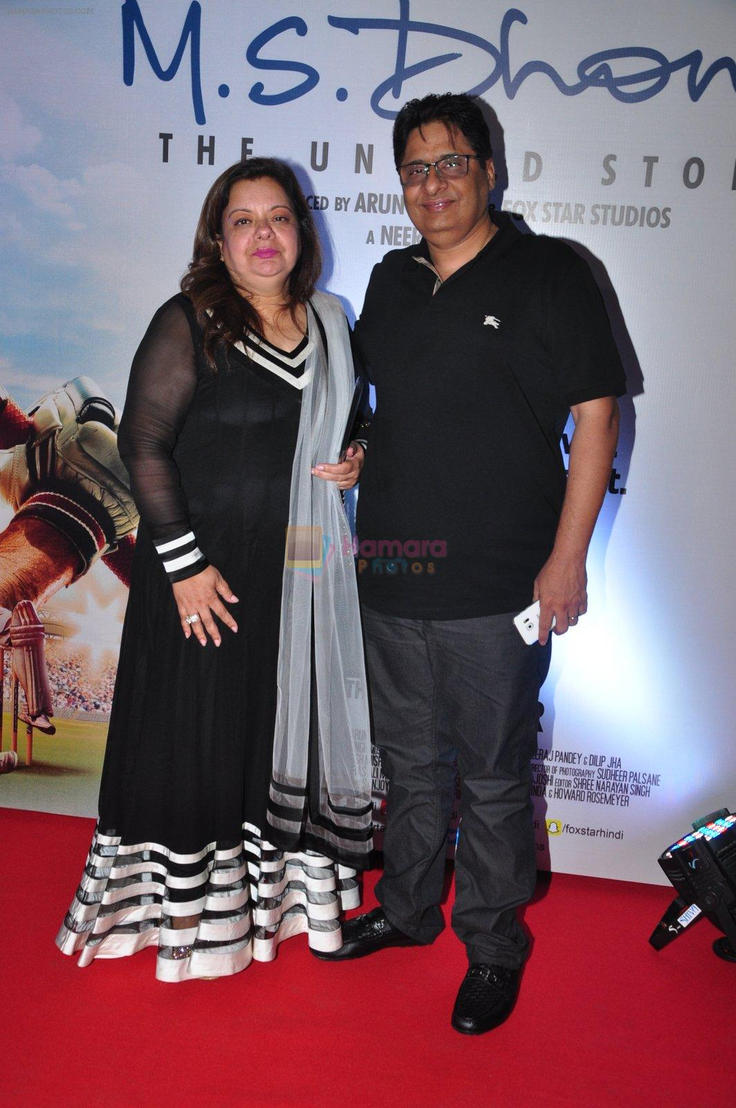 Vashu Bhagnani at MS Dhoni premiere in Mumbai on 29th Sept 2016