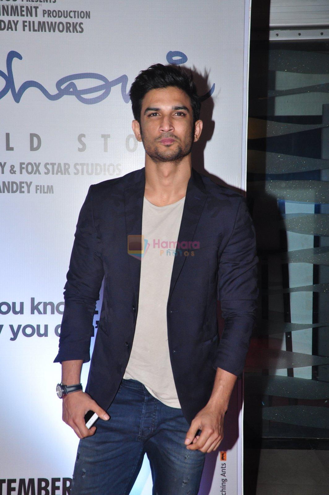 Sushant Singh Rajput at MS Dhoni premiere in Mumbai on 29th Sept 2016