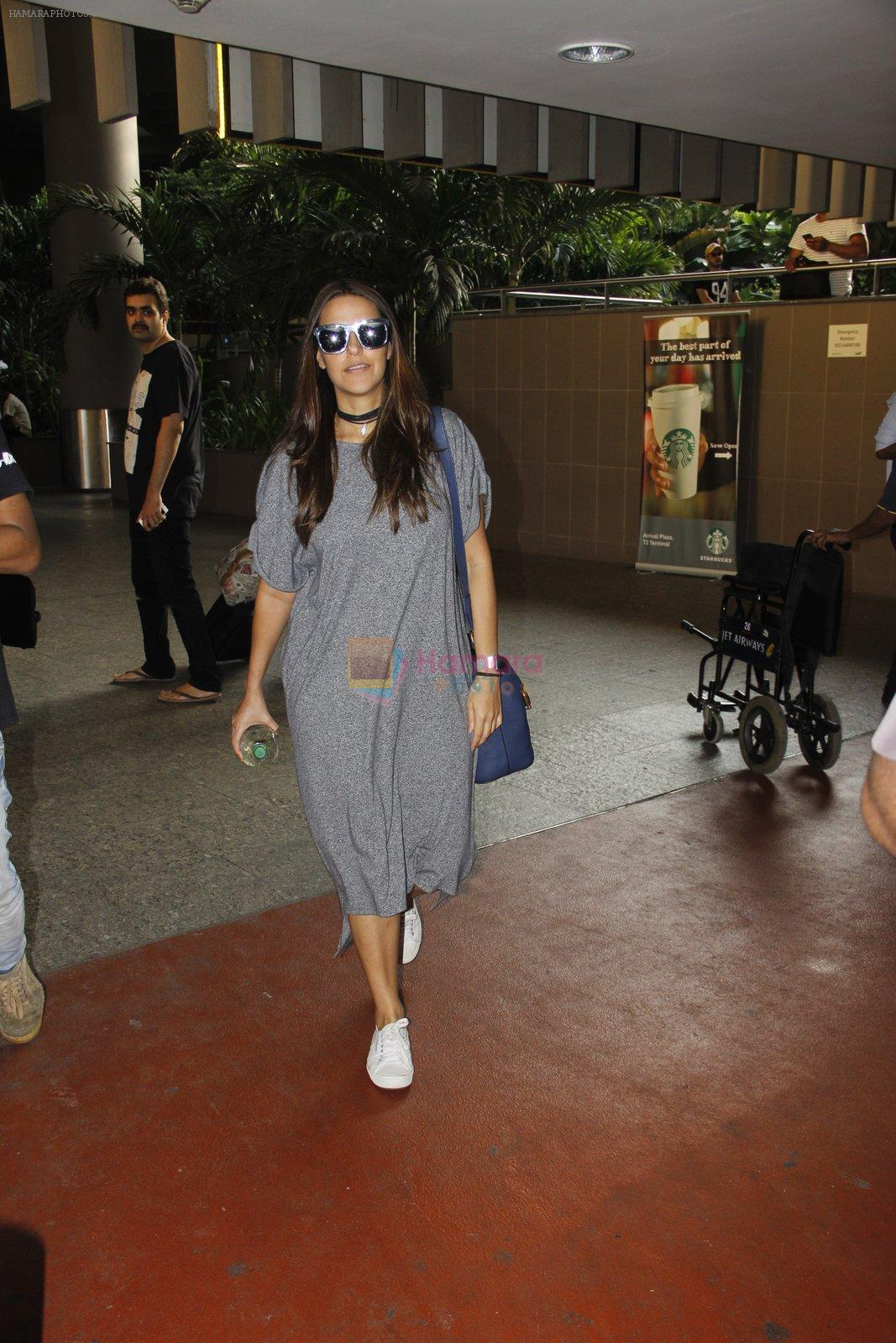 Neha Dhupia snapped at airport on 30th Sept 2016