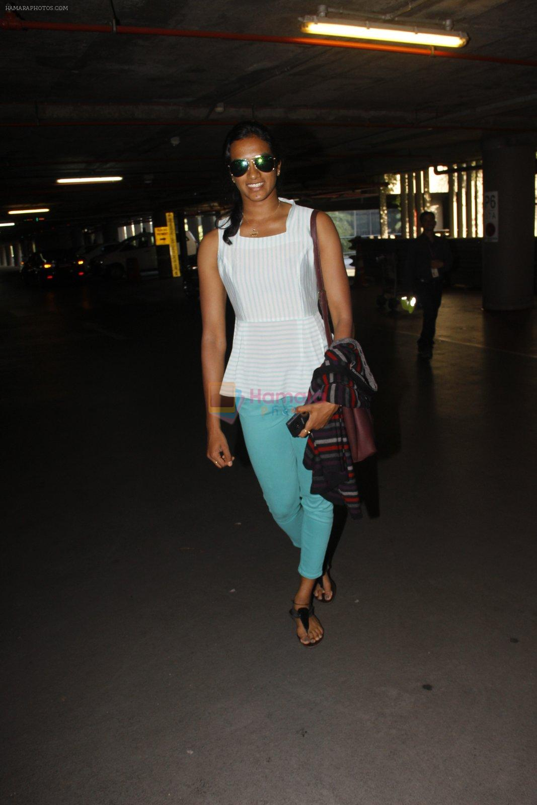 P V Sindhu snapped at airport on 30th Sept 2016