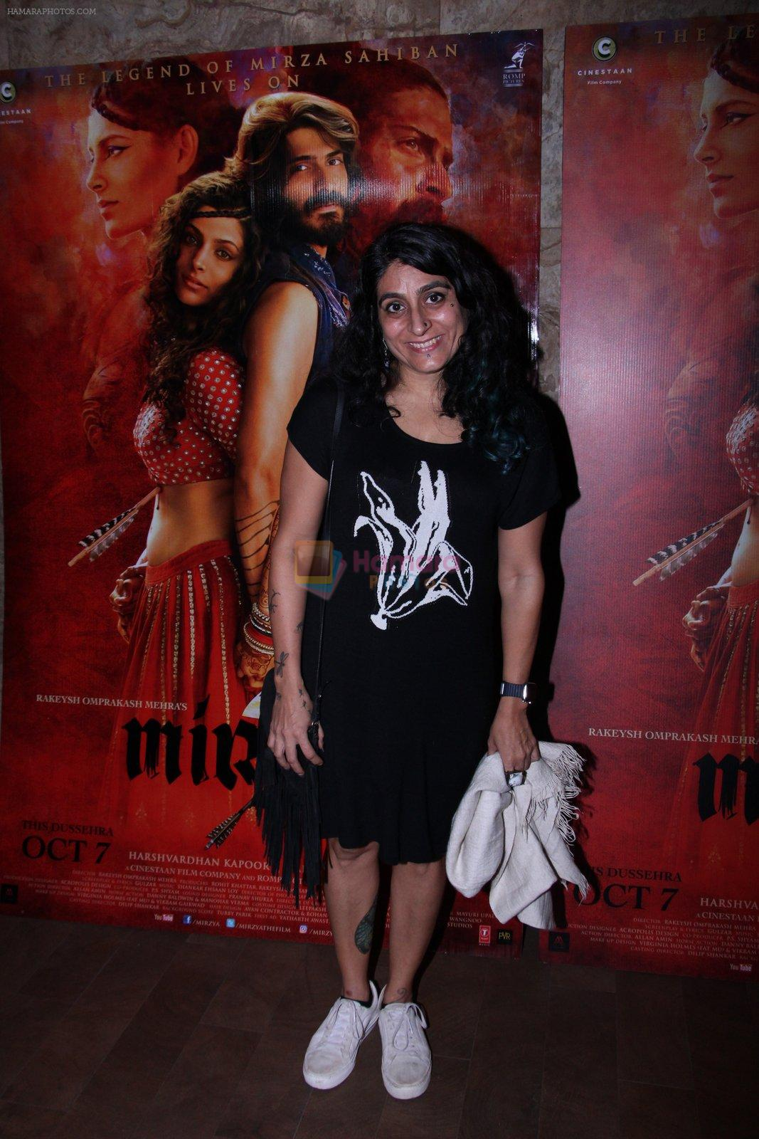 at the screening of Mirzya on 1st Oct 2016