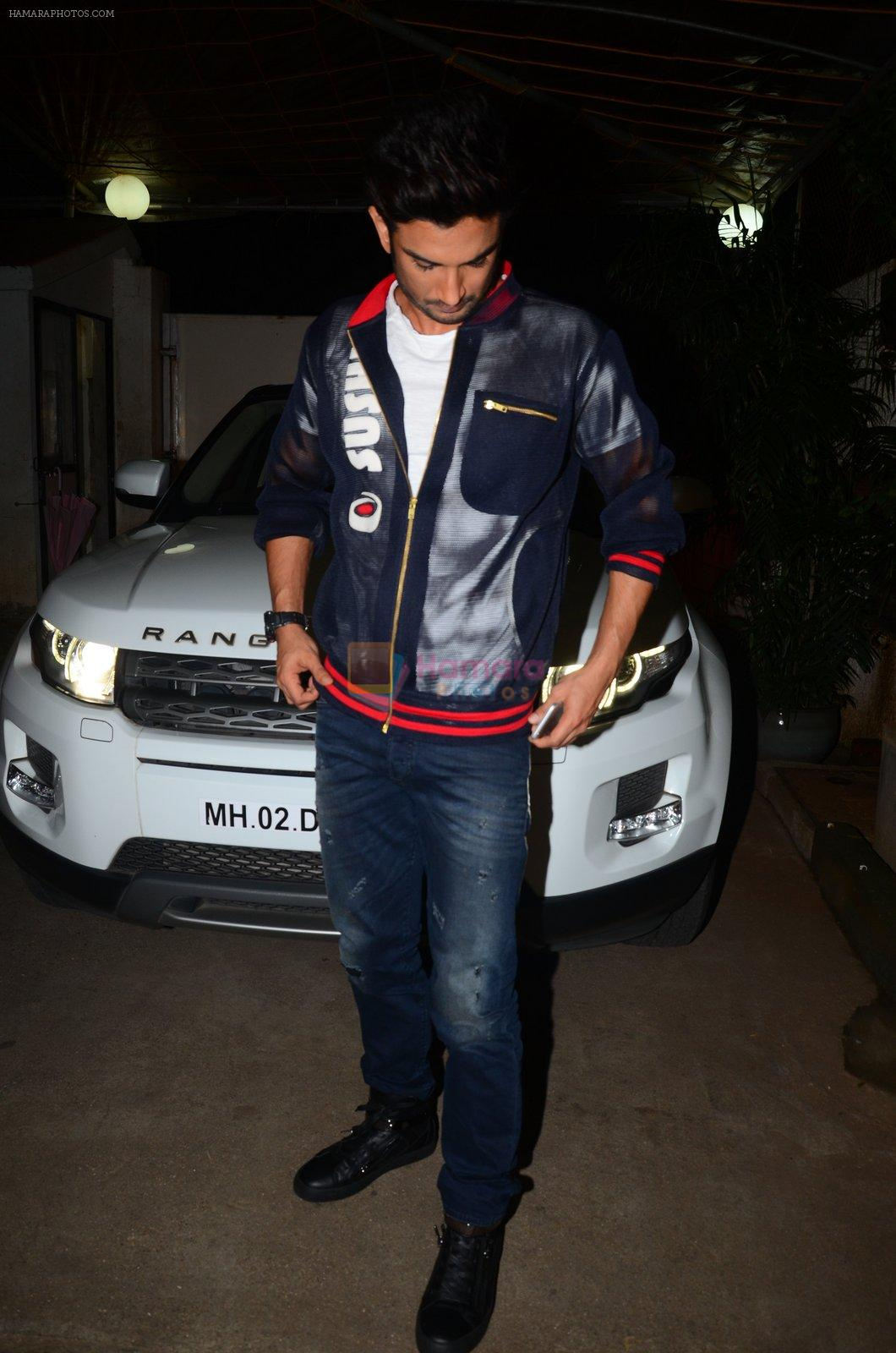 Sushant Singh Rajput at M S Dhoni film Screening on 30th Sept 2016