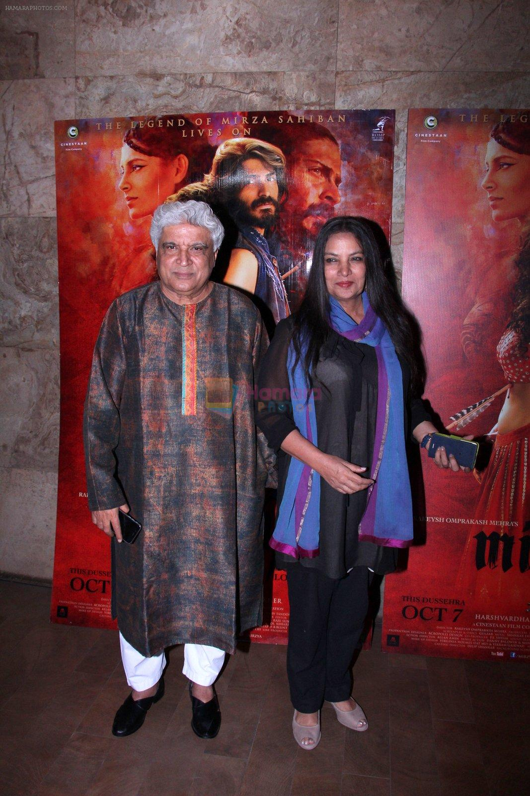 Shabana Azmi,Javed Akhtar at the screening of Mirzya on 1st Oct 2016