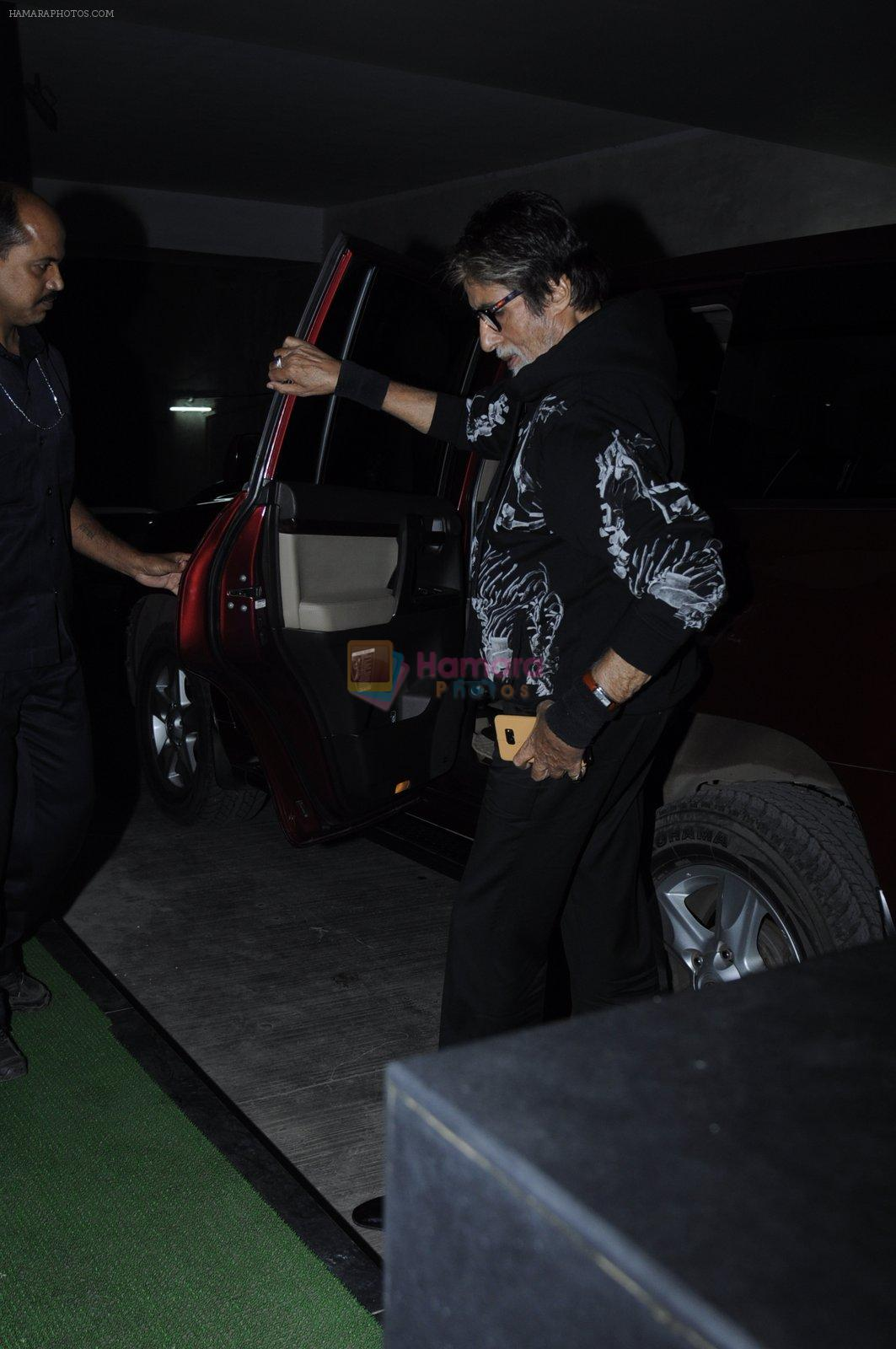 Amitabh Bachchan at Mirzya screening on 30th Sept 2016