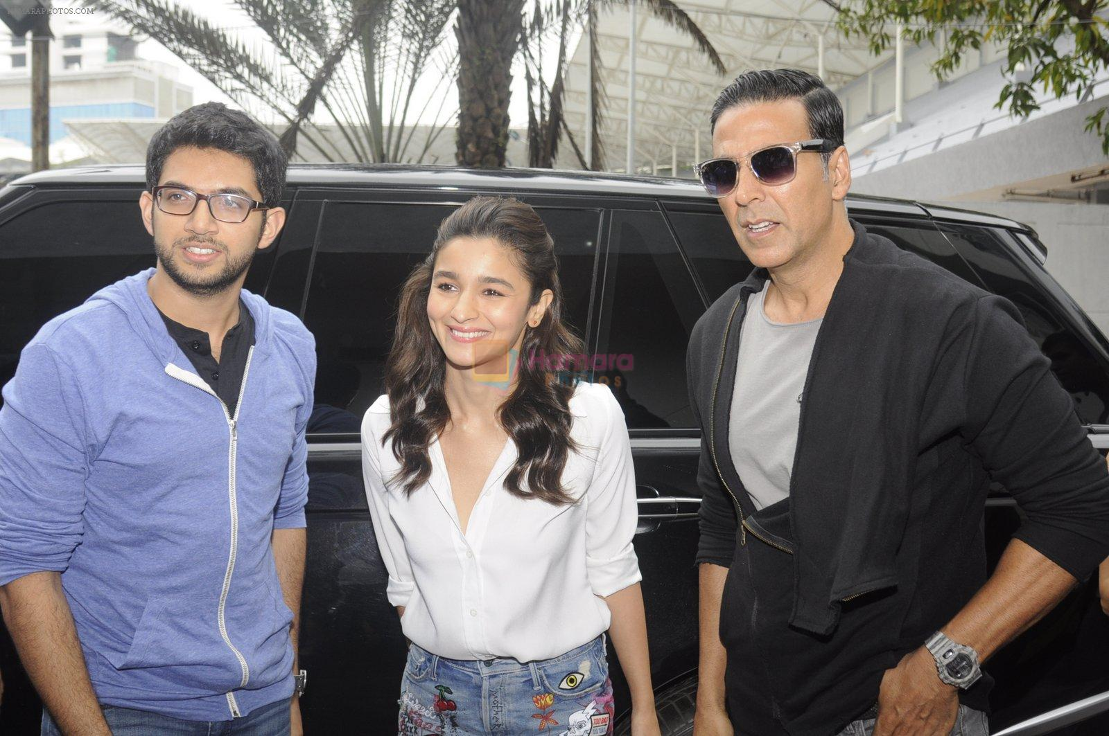 Alia Bhatt and Akshay Kumar for prize distribution for female martial arts for self defense course on 2nd Oct 2016