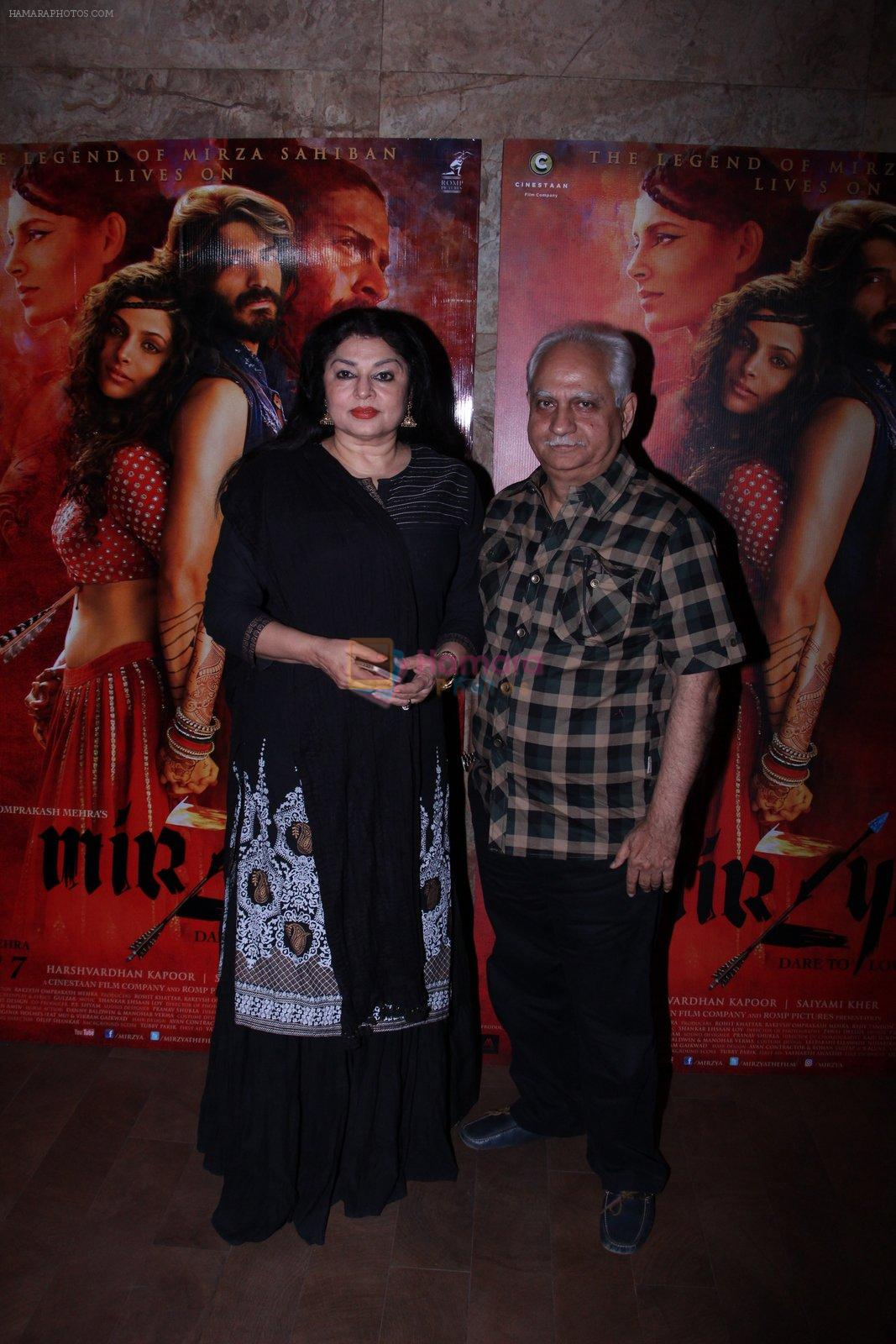 Ramesh Sippy, Kiran Sippy at the screening of Mirzya on 1st Oct 2016