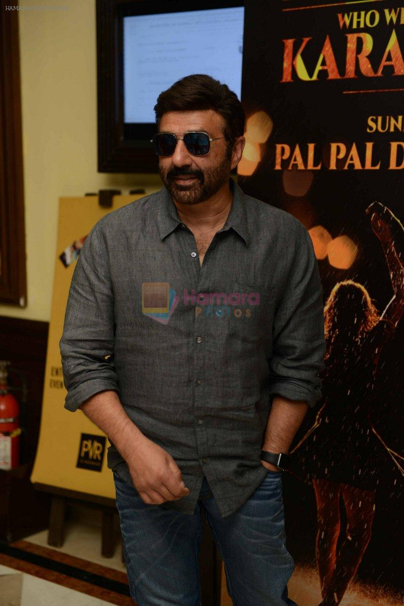 Sunny Deol during the press conference hunt for his son's debut film at PVR Plaza in New delhi on 1st Oct 2016