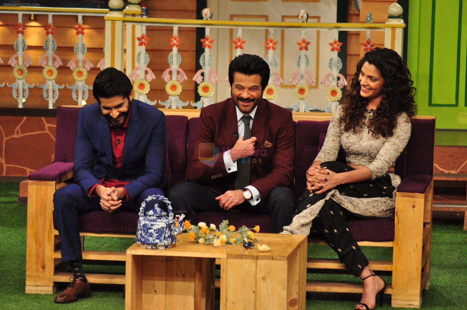 Harshvardhan Kapoor, Saiyami Kher, Anil Kapoor promotes Mirzya on the sets of The Kapil Sharma Show on 30th Sept 2016
