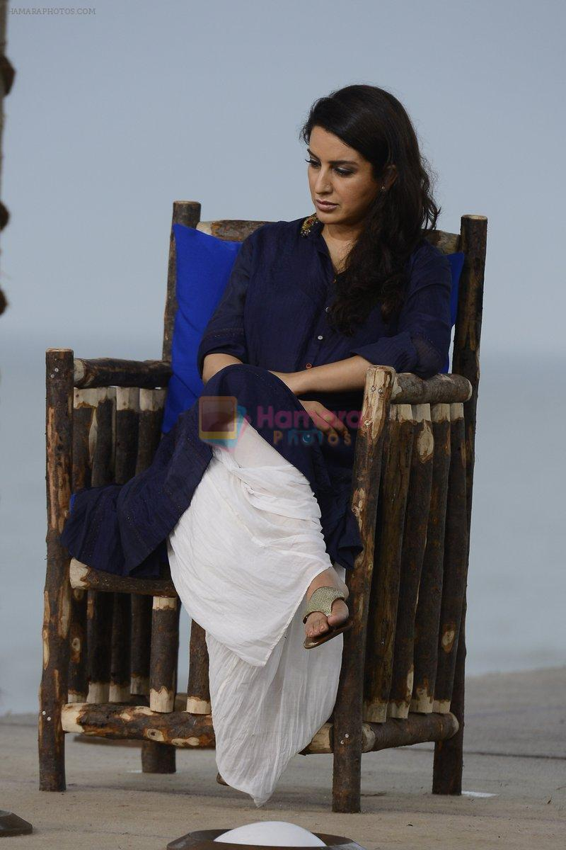 Tisca Chopra at NDTV Cleanathon campaign in Juhu Beach on 2nd Oct 2016