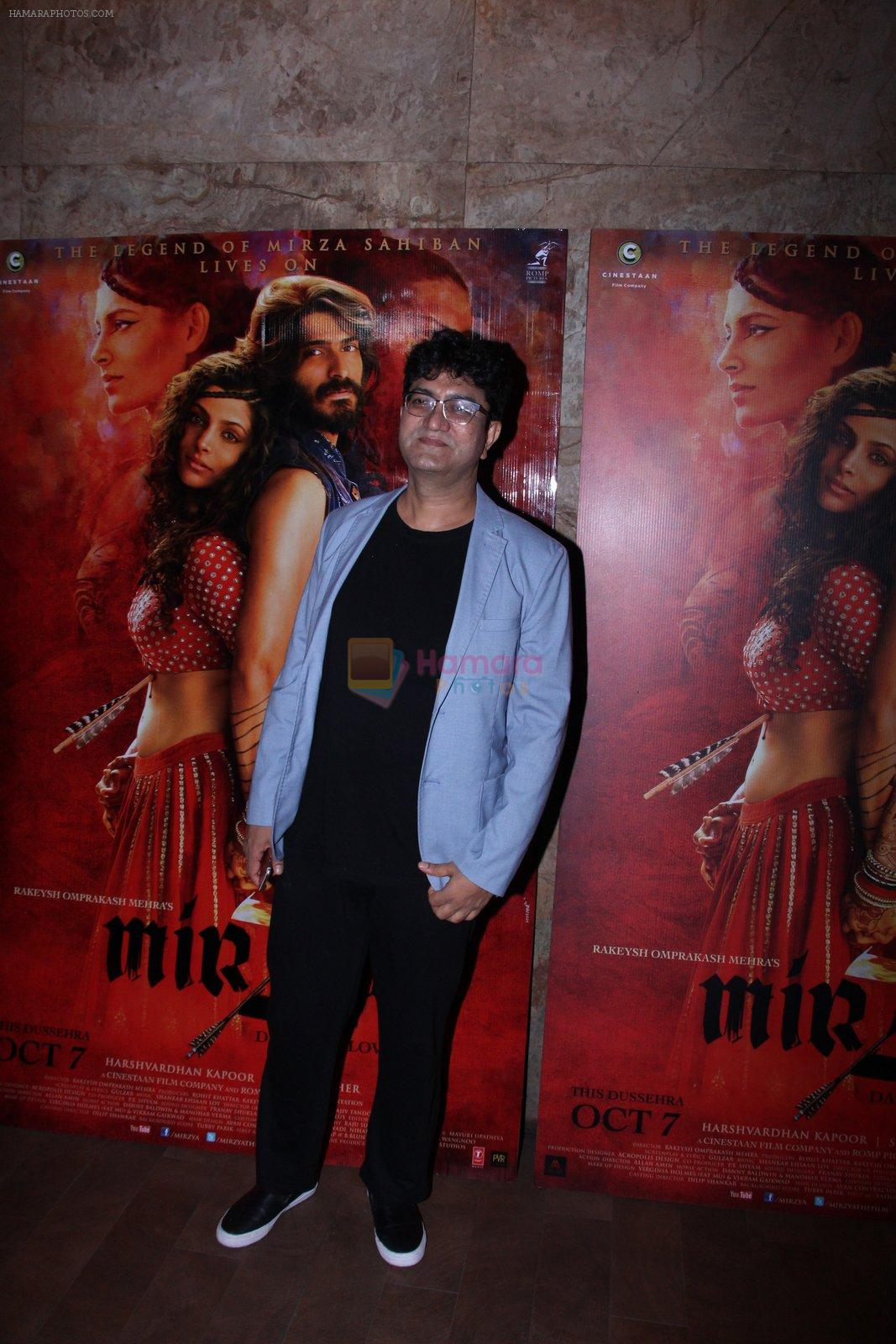 Parsoon Joshi at the screening of Mirzya on 1st Oct 2016