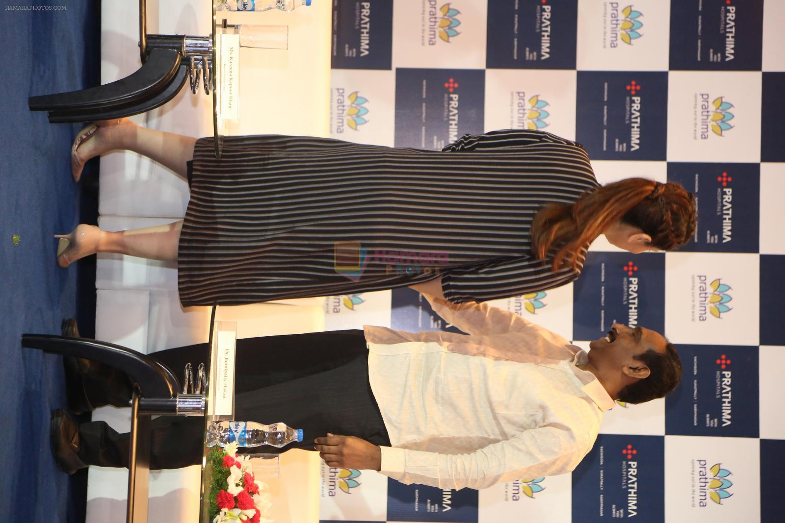 saif ali khan and kareena kapoor at prathima hospitals brand ambassador on 1st Oct 2016
