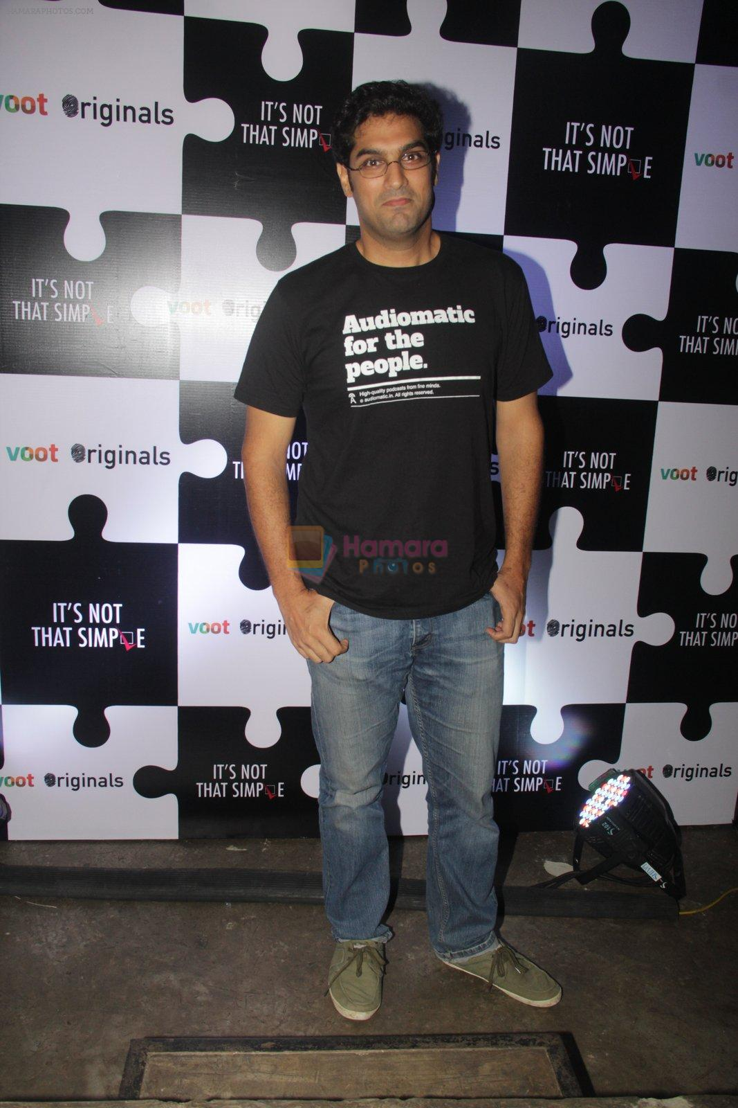 Kunal Roy Kapoor at the screening of It�s Not That Simple on 3rd Oct 2016