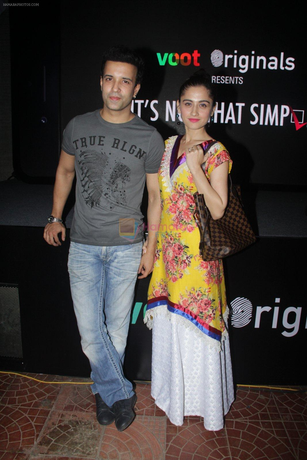 Aamir Ali, Sanjeeda Sheikh at the screening of It�s Not That Simple on 3rd Oct 2016