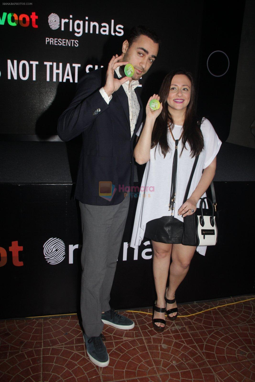 Imran Khan, Avantika Malik at the screening of It�s Not That Simple on 3rd Oct 2016