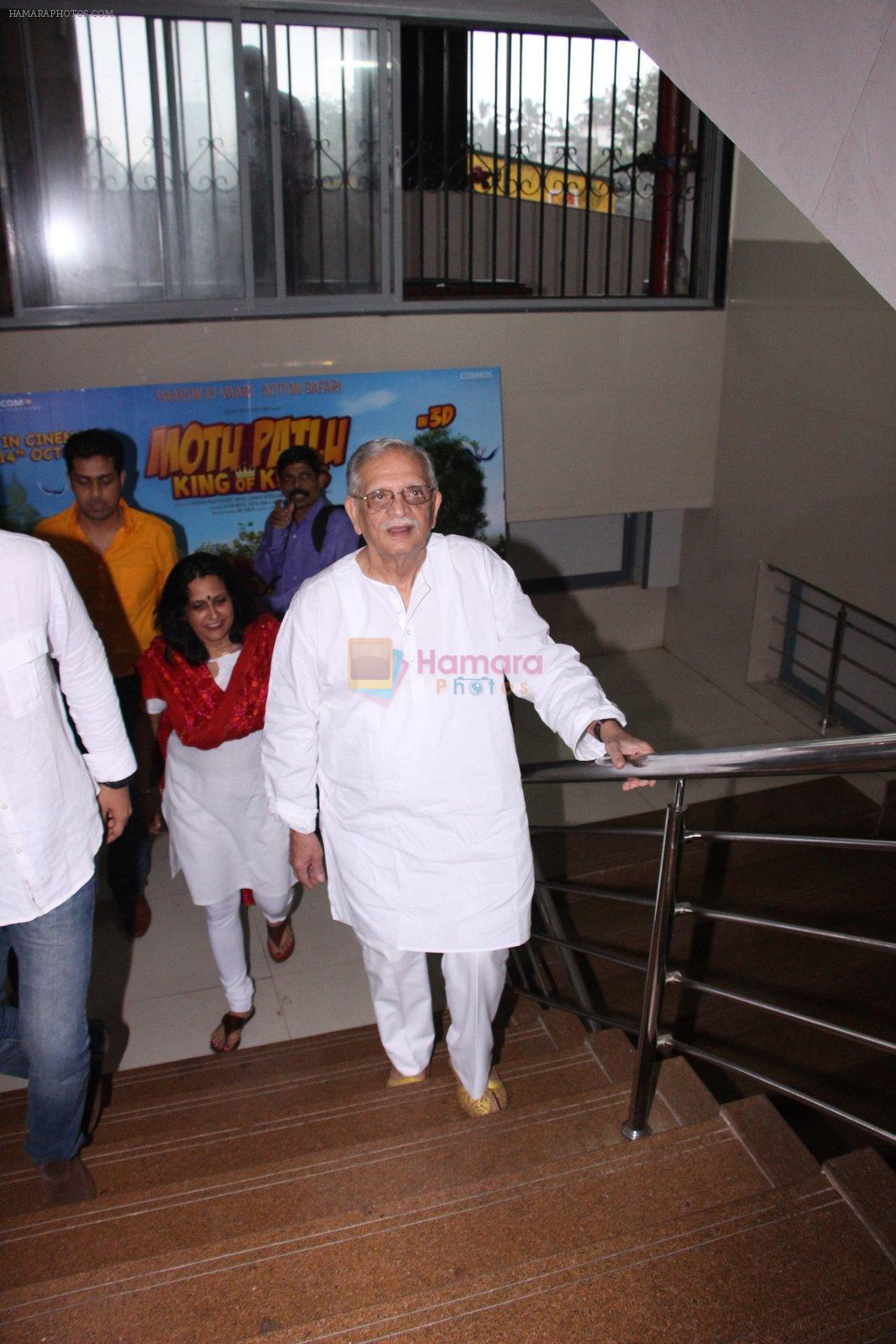 Gulzar at the music launch of Motu Patlu-bKing of Kings 3D on 4th Oct 2016