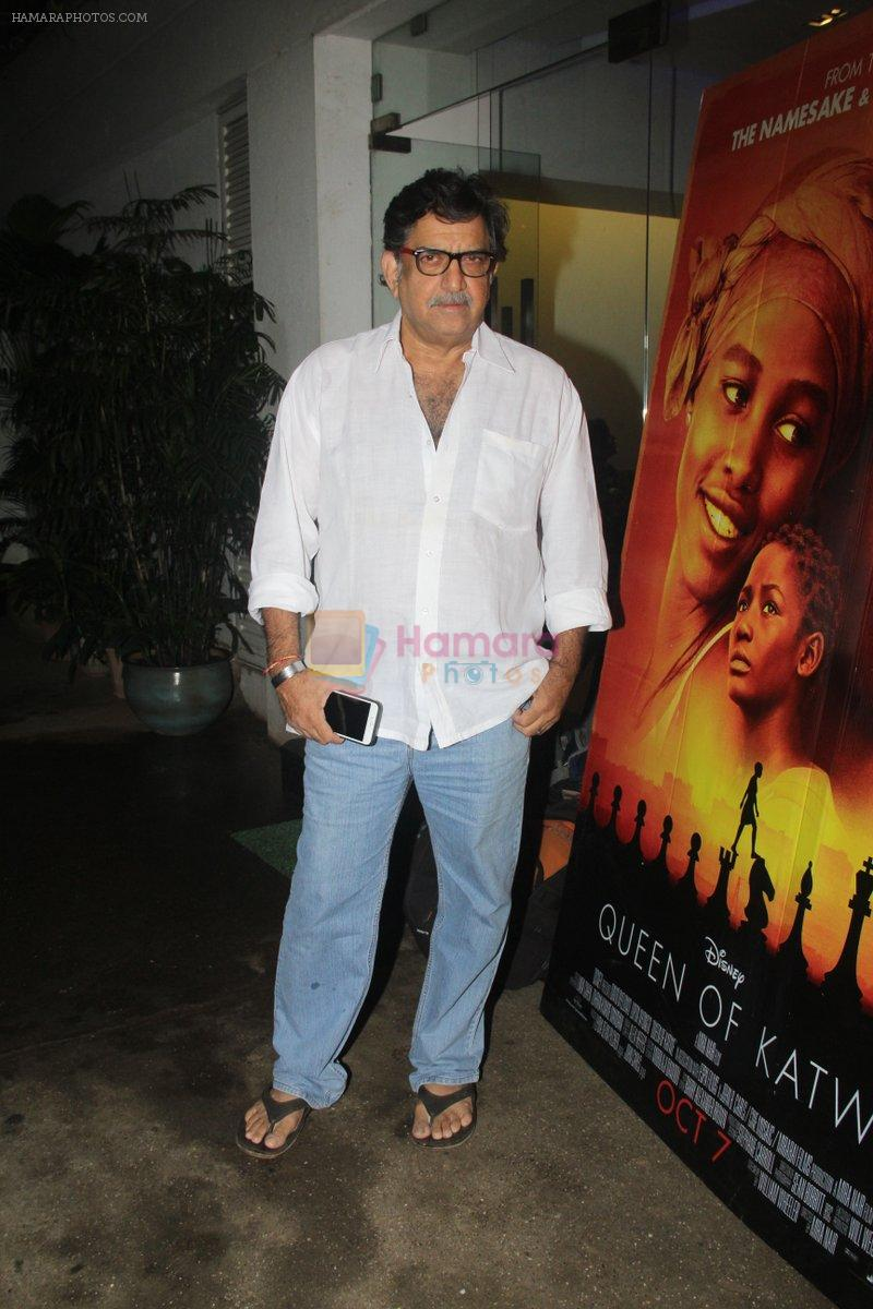 Baba Azmi at the Screening of Queen of Katwe in Sunny Super Sound on 4th Oct 2016