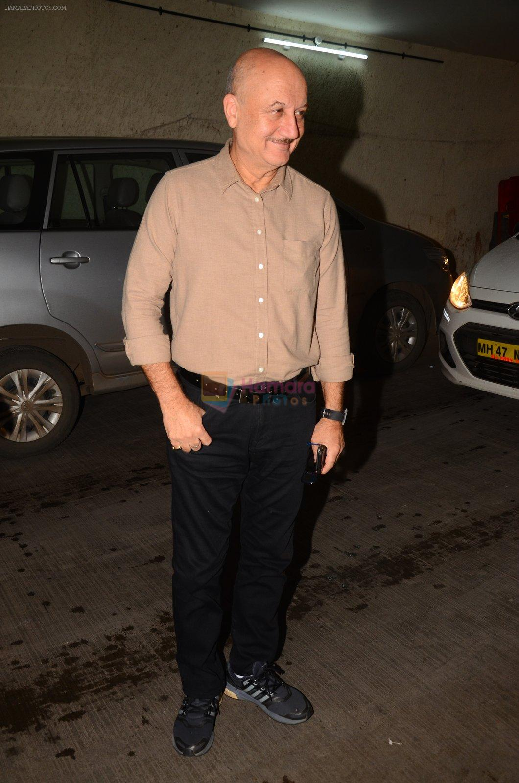 Anupam Kher at Mirzya screening on 4th Oct 2016
