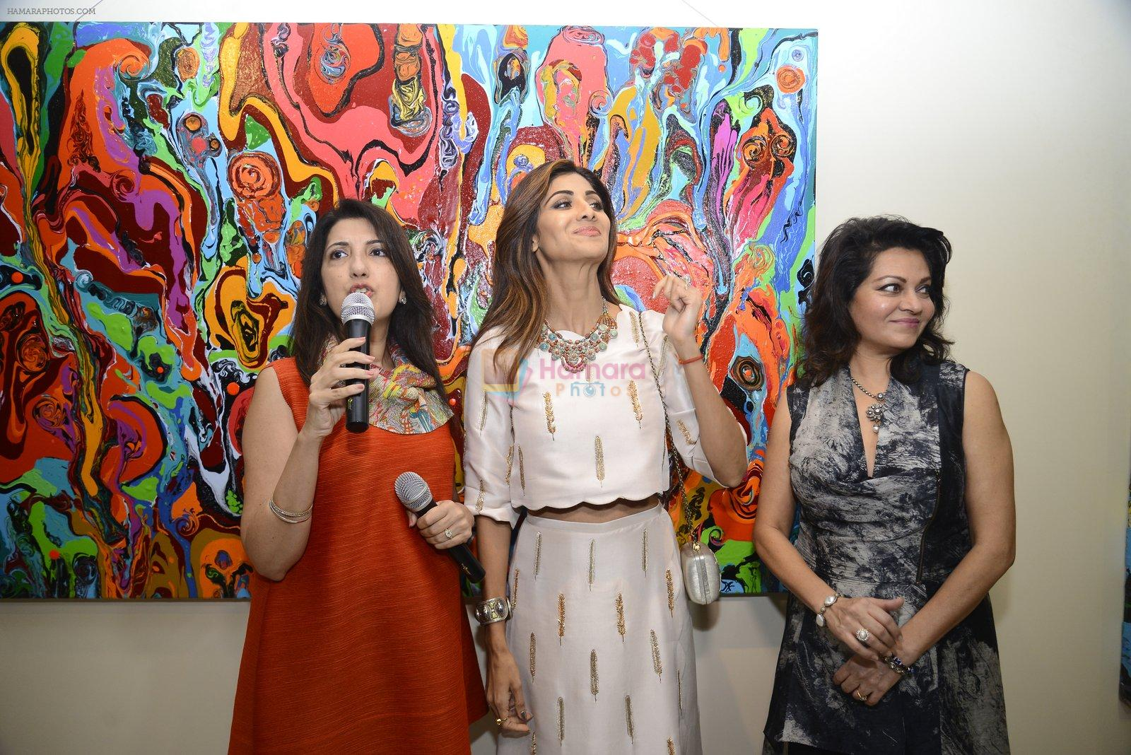 Shilpa Shetty at Anu Malhotra art exhibition in Mumbai on 5th Oct 2016