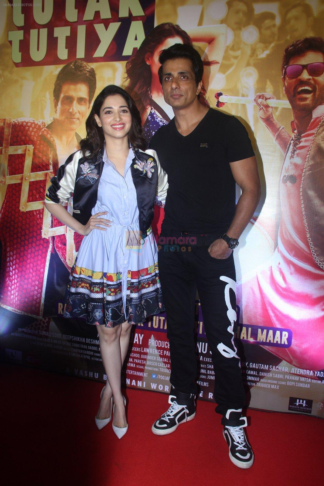 Tamannaah Bhatia, Sonu Sood at Tutak Tutak Tutiya premiere on 6th Oct 2016
