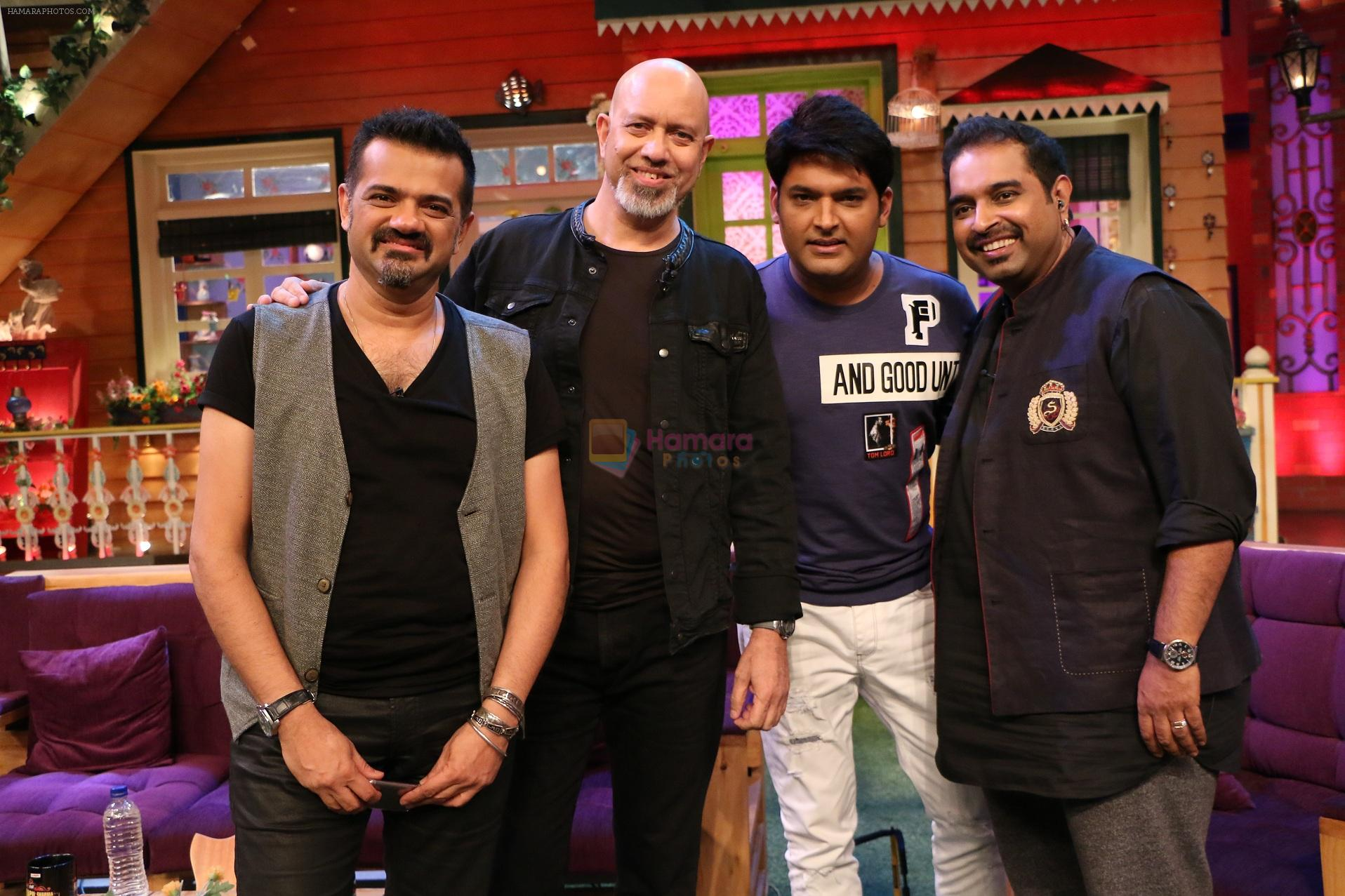Shankar Ehsaan Loy on the sets of The Kapil Sharma Show on 5th Oct 2016