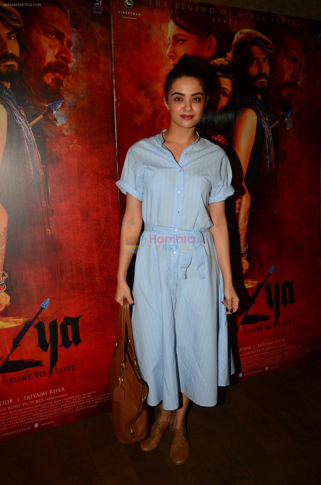 Surveen Chawla snapped at Mirzya Screening on 6th Oct 2016
