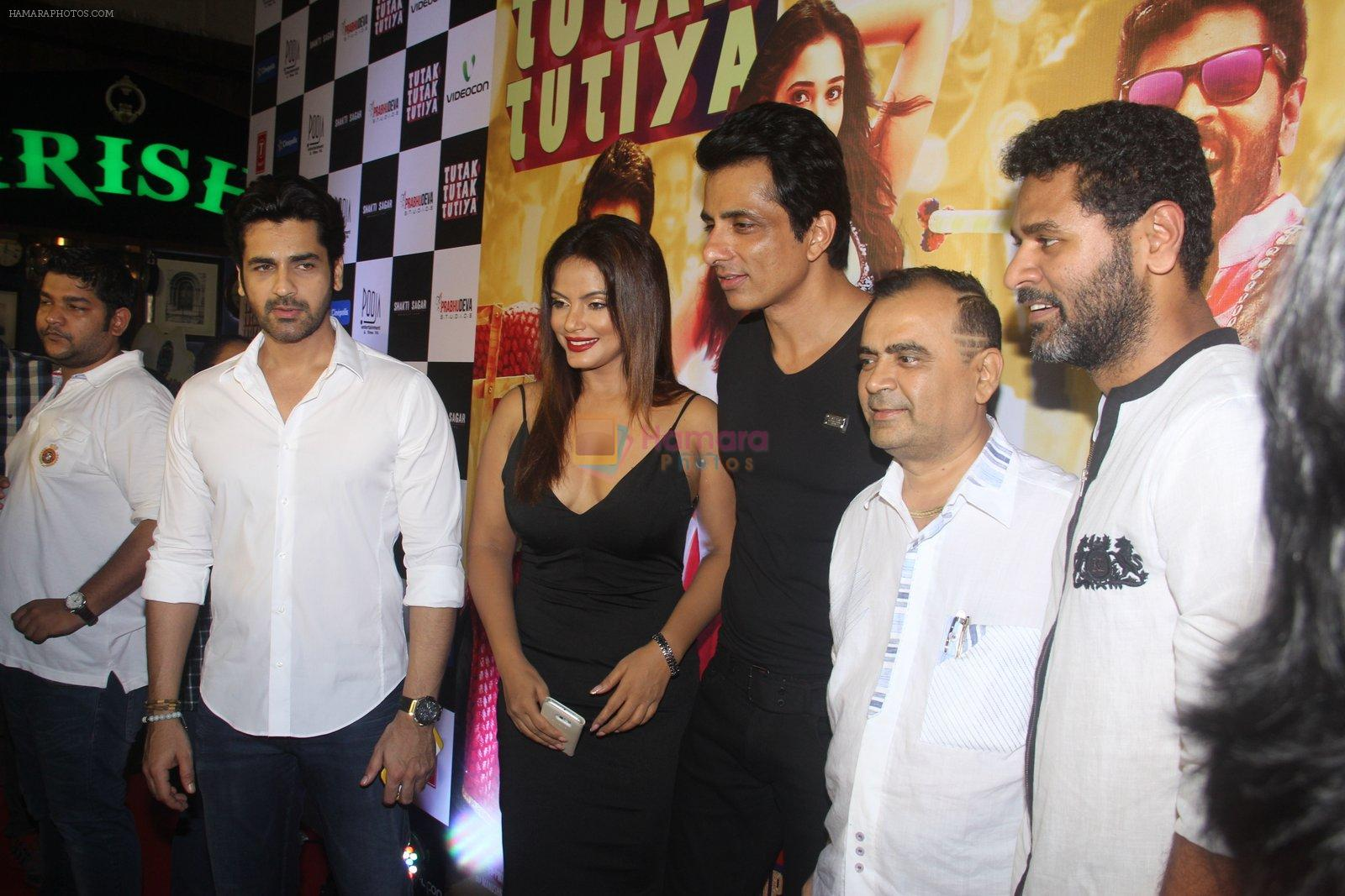 Tamannaah Bhatia, Sonu Sood, Prabhu Deva at Tutak Tutak Tutiya premiere on 6th Oct 2016