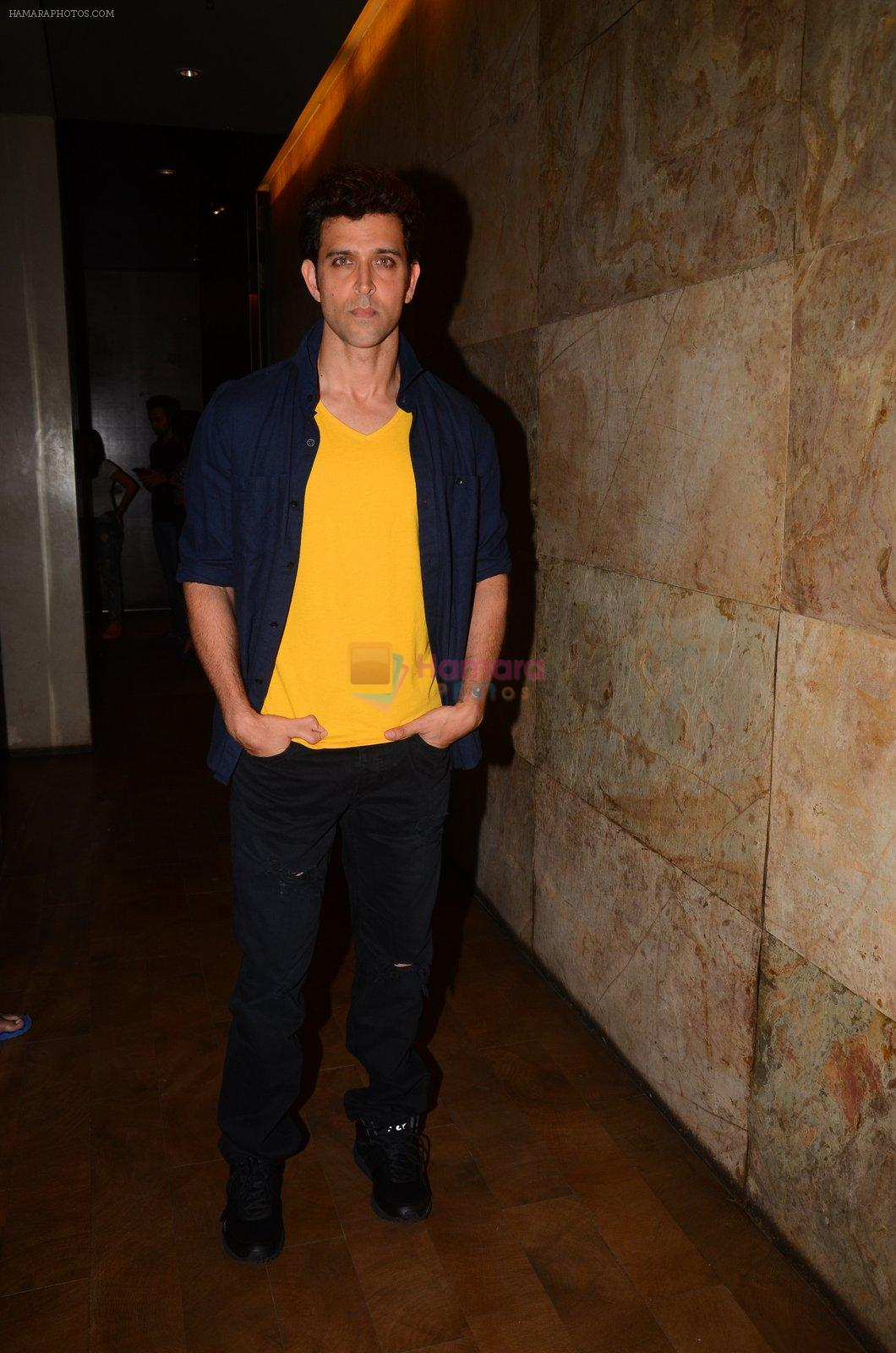 Hrithik Roshan snapped at Mirzya Screening on 6th Oct 2016