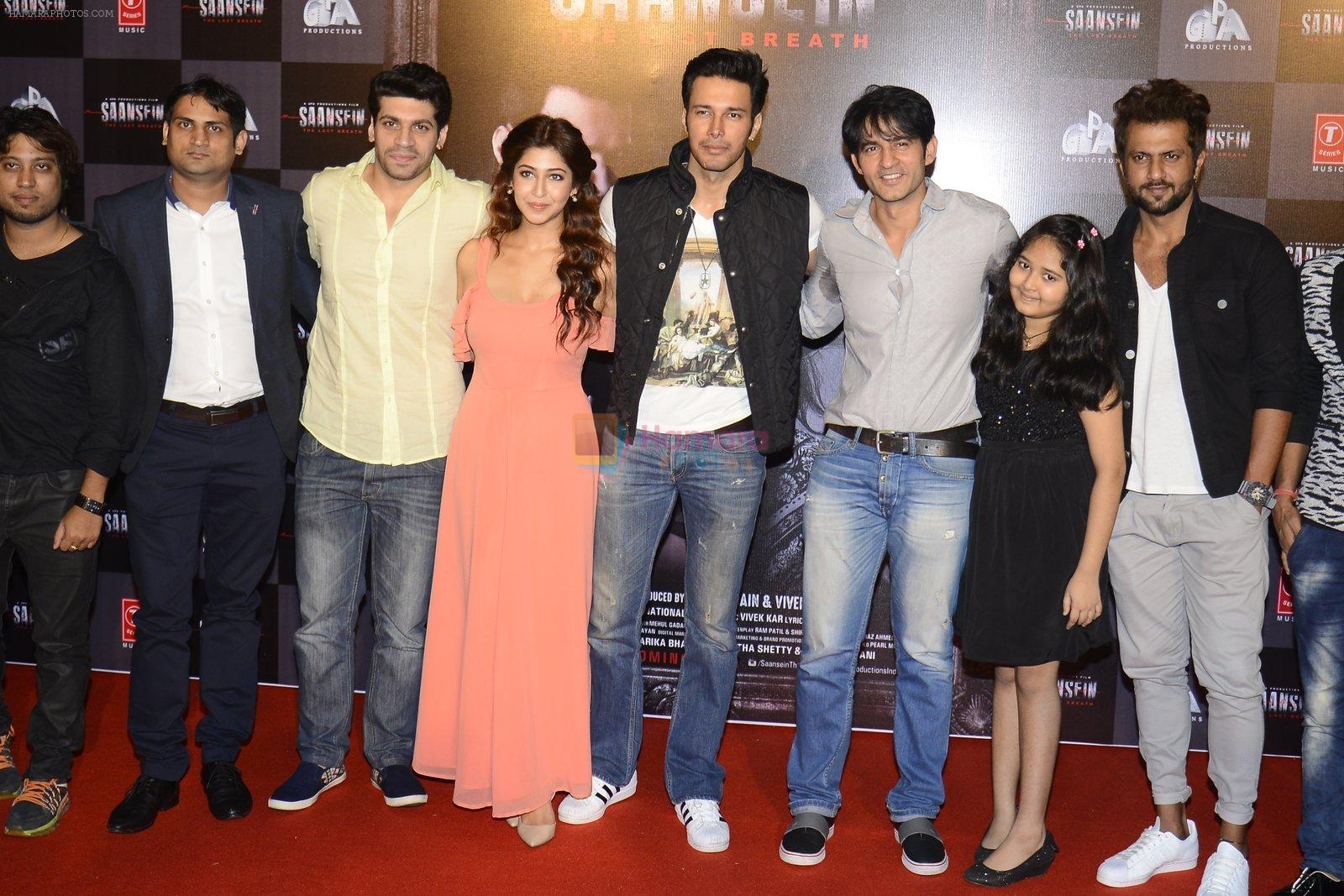Sonarika Bhadoria, Rajneesh Duggal, Hiten Tejwani at Trailer launch of Saansein on 5th Oct 2016