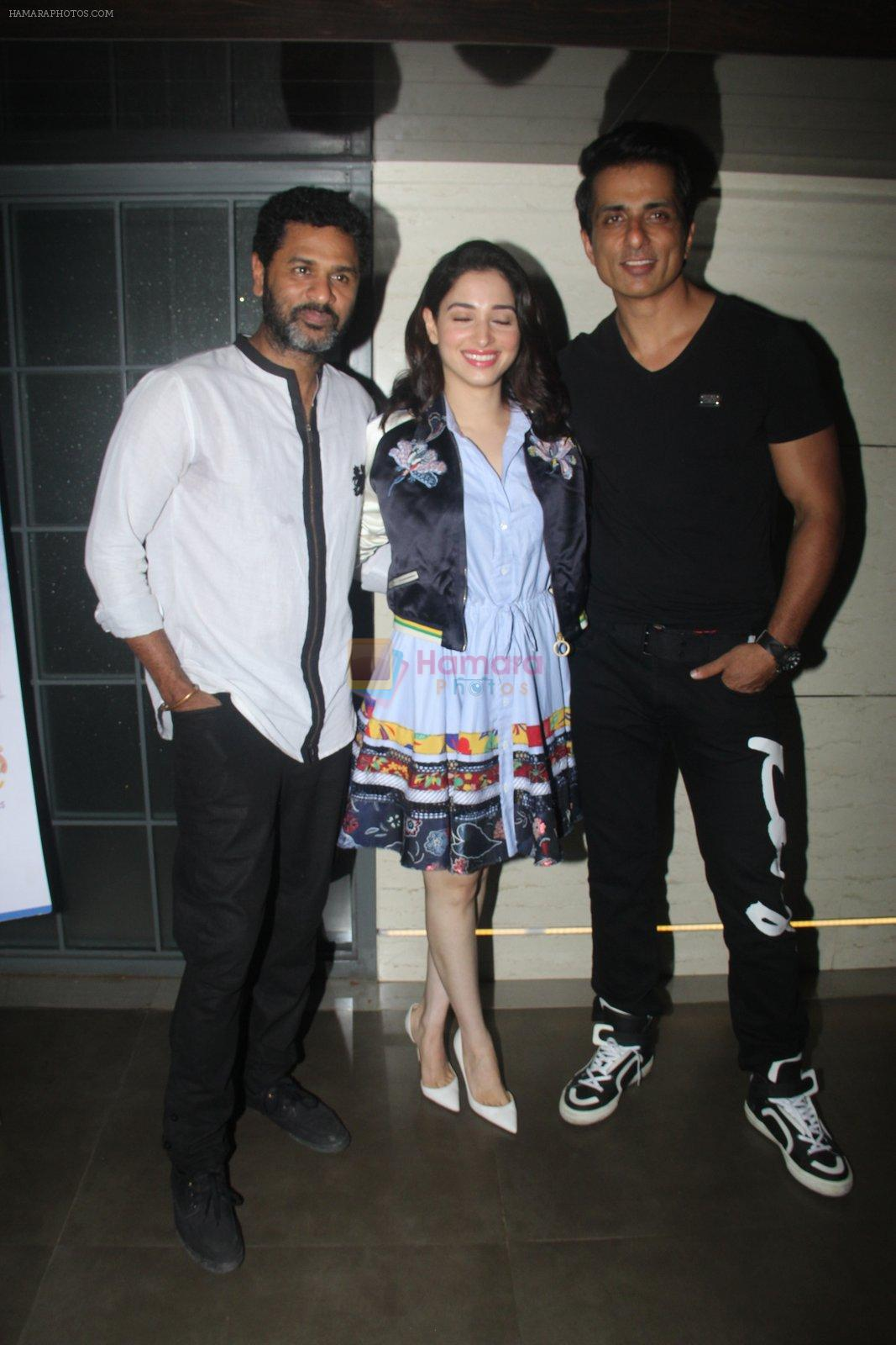 Prabhu Deva, Tamannaah Bhatia, Sonu Sood at Tutak Tutak Tutiya premiere on 6th Oct 2016