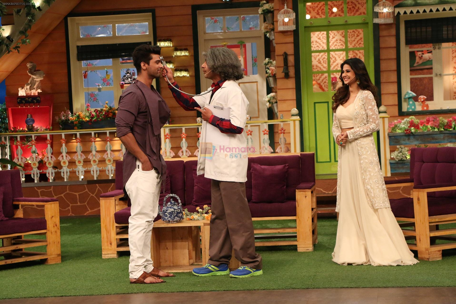 Jennifer Winget, Kushal Tandon promote Beyhadh on the sets of The Kapil Sharma Show on 5th oct 2016