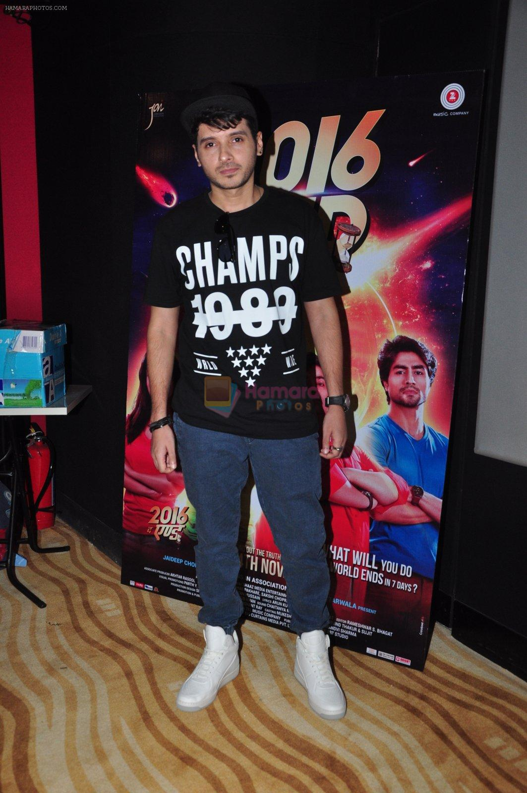 Divyendu Sharma at the Trailer launch of film 2016 The End on 6th Oct 2016