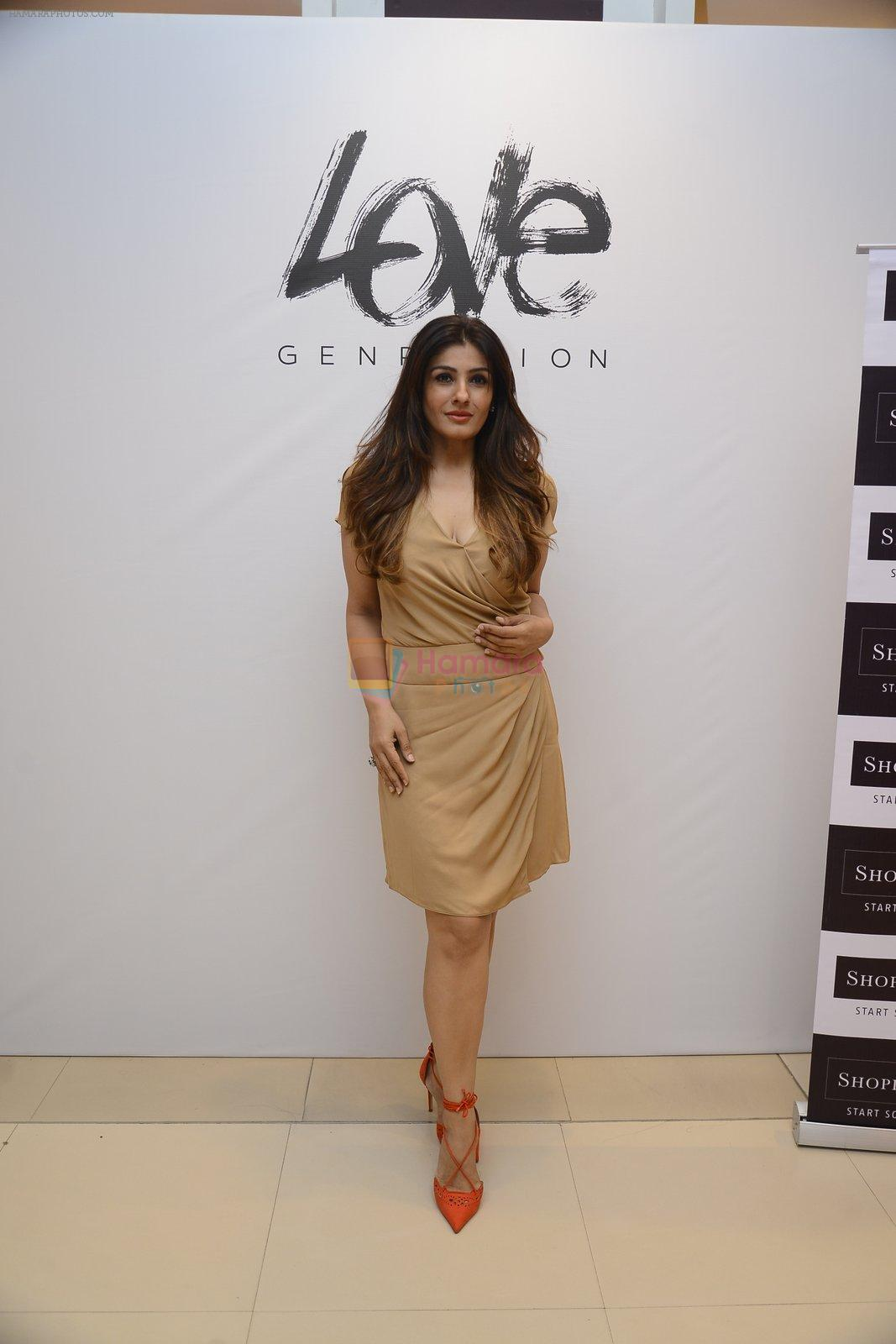Raveena Tandon at Love Generation launch at Shoppers Stop on 7th Oct 2016