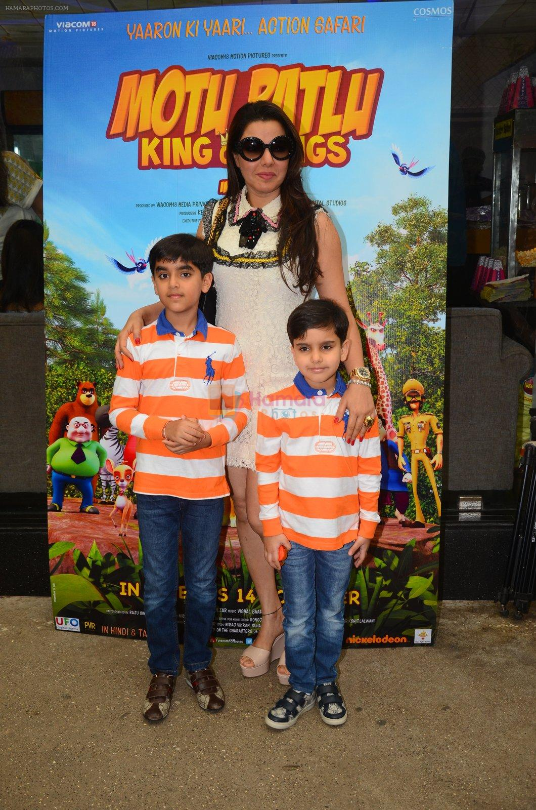 Kehkashan Patel at Motu Patlu screening in Mumbai on 9th Oct 2016