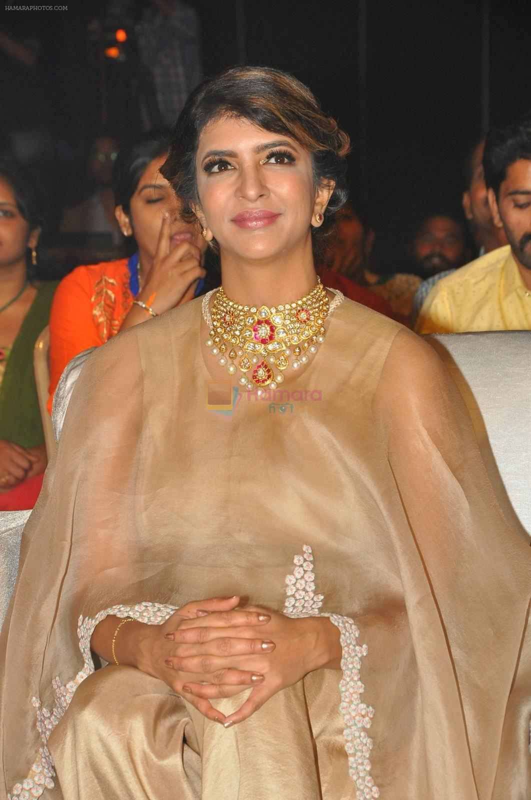 Lakshmi Manchu in Anamika Khanna and Amrapali jewels at Lakshmi Bomba audio launch
