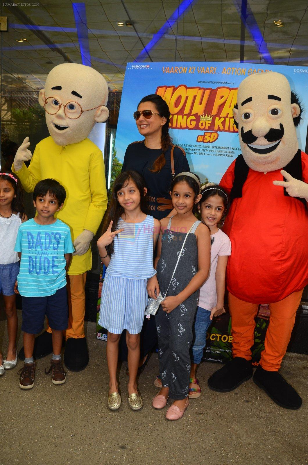 Mini Mathur at Motu Patlu screening in Mumbai on 9th Oct 2016