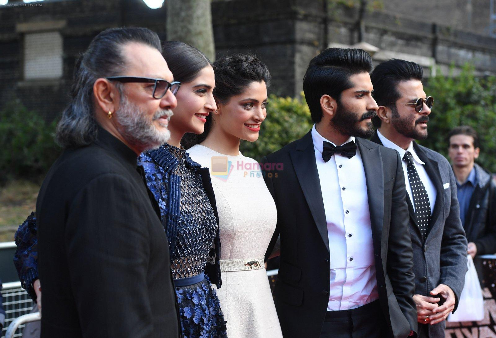 Harshvardhan Kapoor, Saiyami Kher, Sonam Kapoor, Rakesh Mehra at Mirzya premiere in BFI London Film festival on 10th Oct 2016