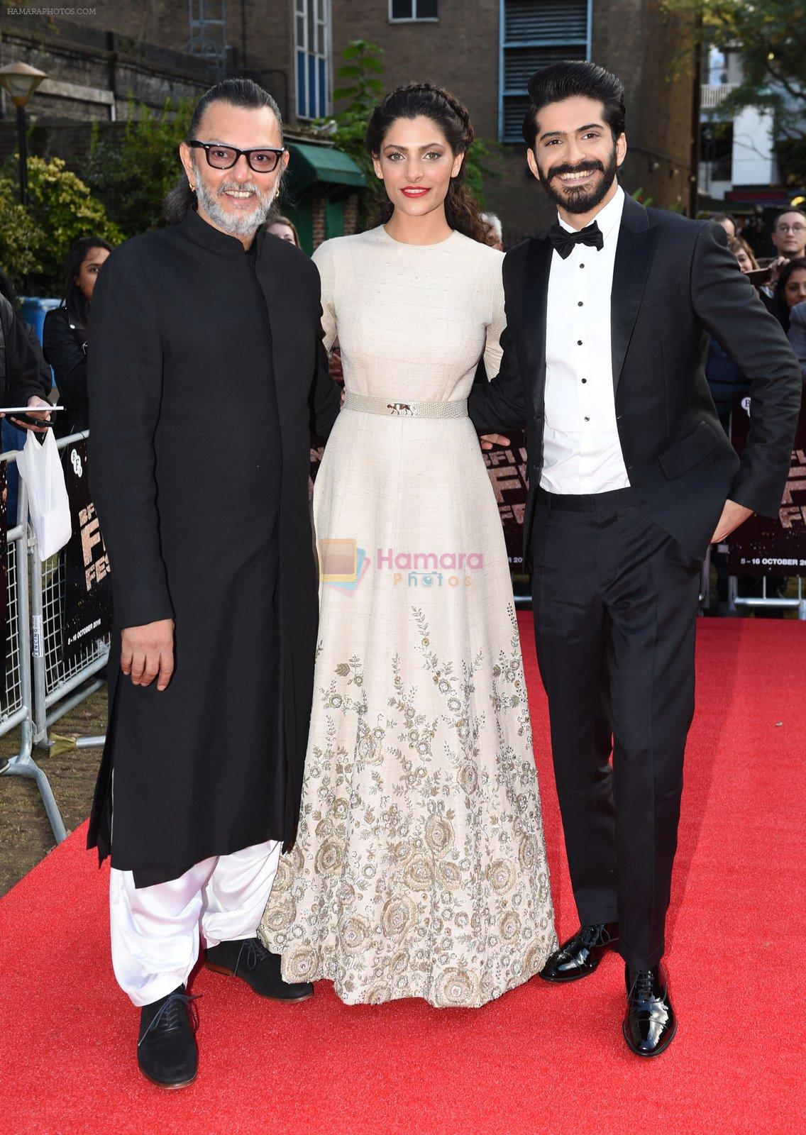 Harshvardhan Kapoor, Saiyami Kher, Rakesh Mehra at Mirzya premiere in BFI London Film festival on 10th Oct 2016