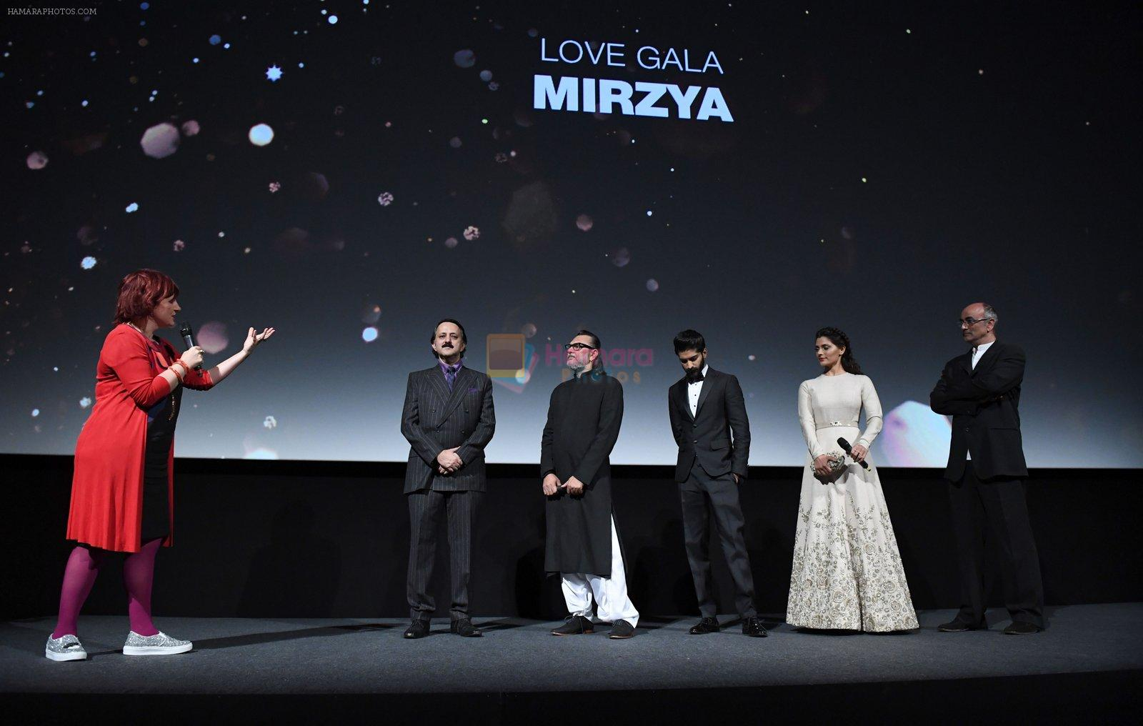 at Mirzya premiere in BFI London Film festival on 10th Oct 2016