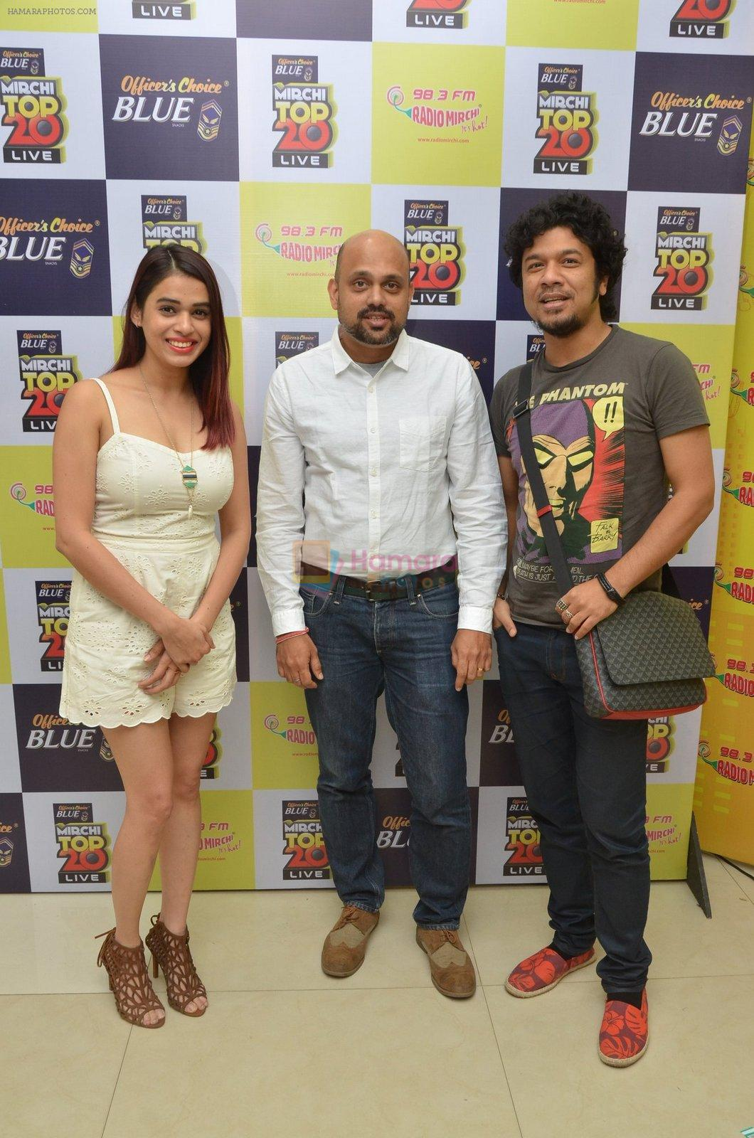 Papon and Shalmali Kholgade at the Announcement Of Mirchi Top 20 Concert on 10th Oct 2016